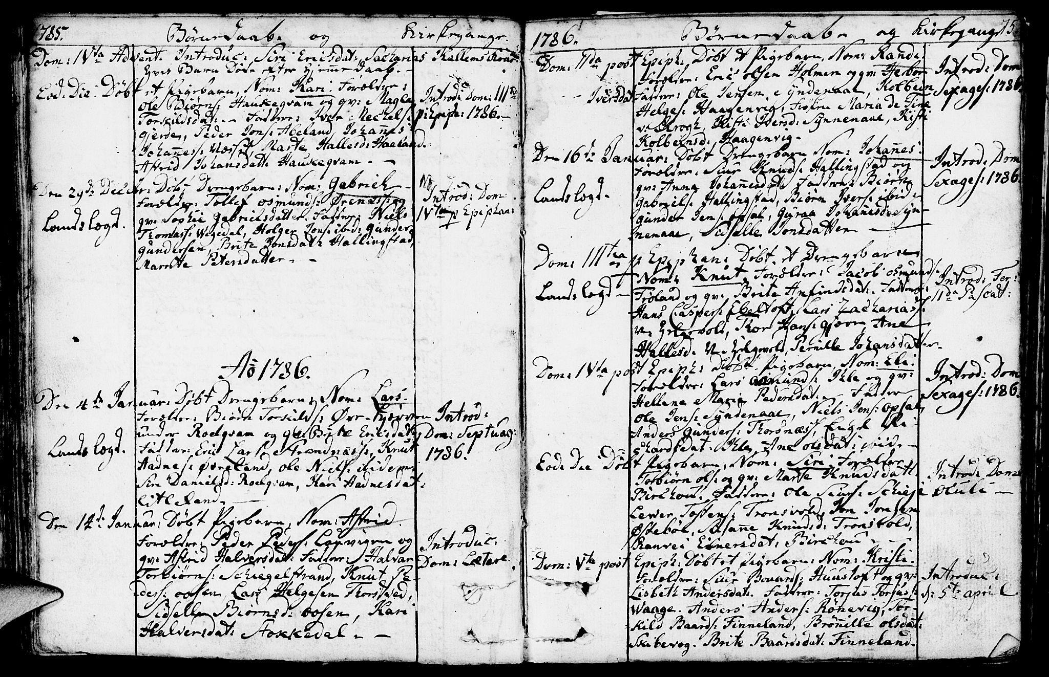 SAST, Vikedal sokneprestkontor, IV: Ministerialbok nr. A 2, 1779-1817, s. 75