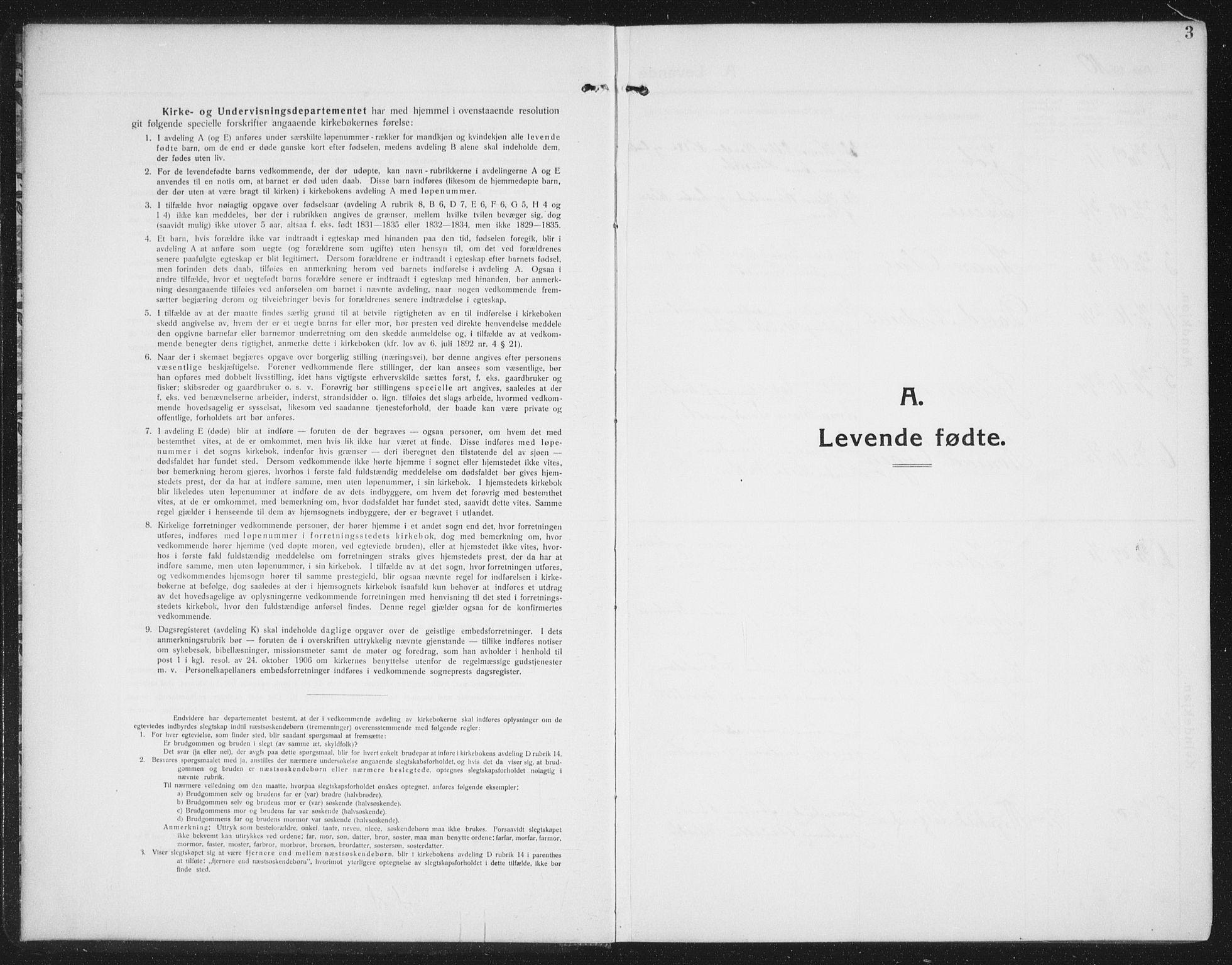 SAT, Ministerialprotokoller, klokkerbøker og fødselsregistre - Nord-Trøndelag, 774/L0630: Klokkerbok nr. 774C01, 1910-1934, s. 3