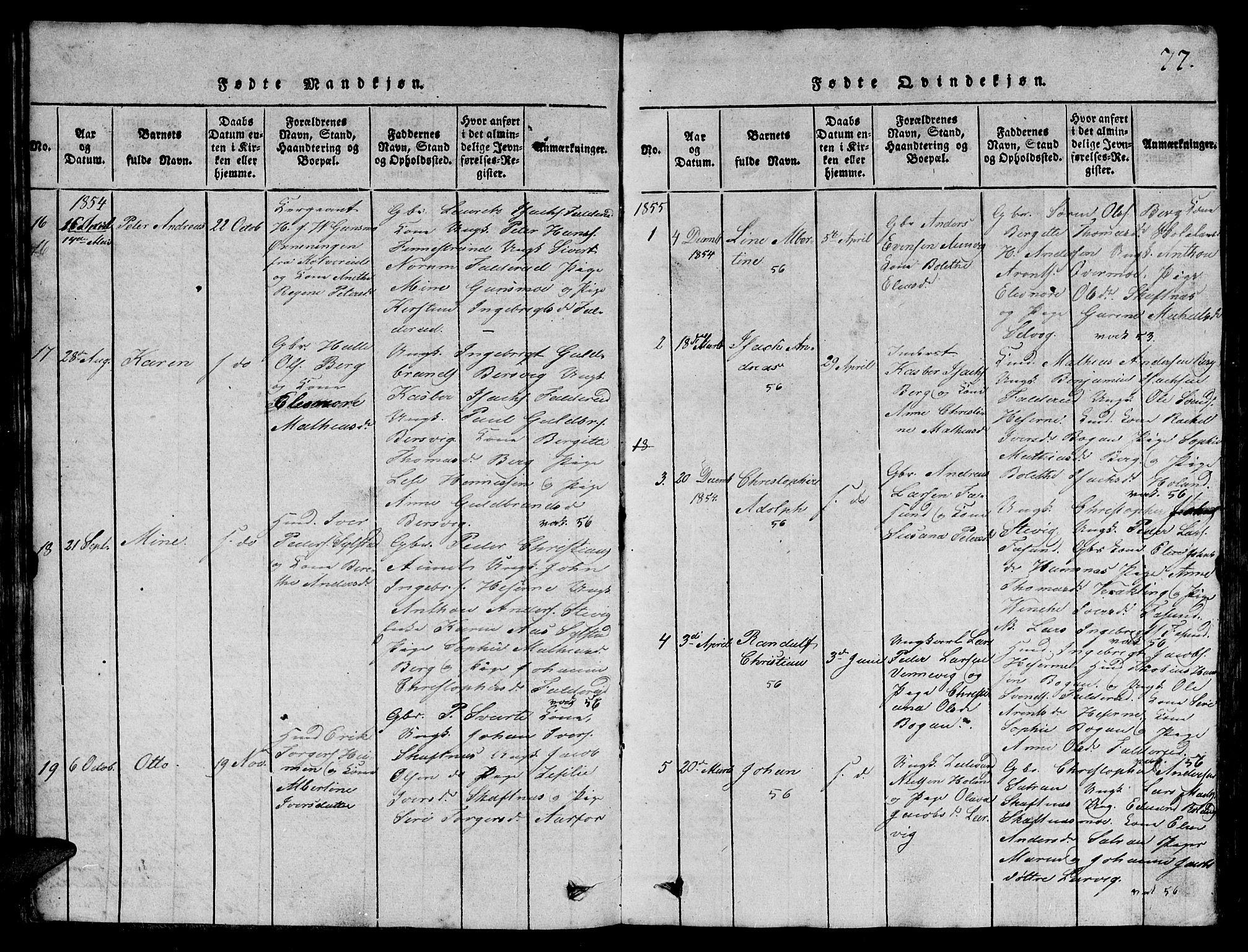 SAT, Ministerialprotokoller, klokkerbøker og fødselsregistre - Nord-Trøndelag, 780/L0648: Klokkerbok nr. 780C01 /3, 1815-1877, s. 77