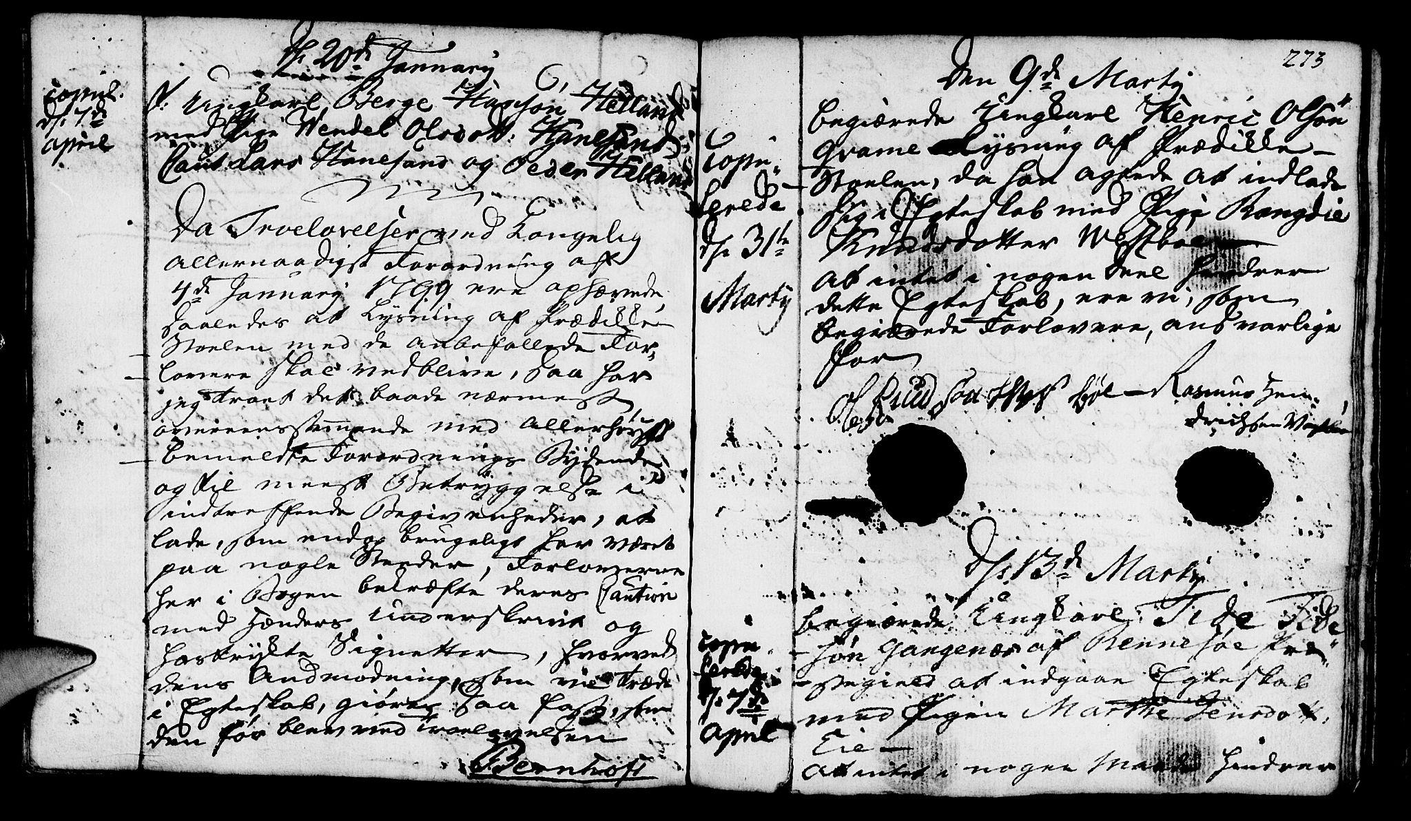 SAST, Finnøy sokneprestkontor, H/Ha/Haa/L0005: Ministerialbok nr. A 5, 1773-1816, s. 273