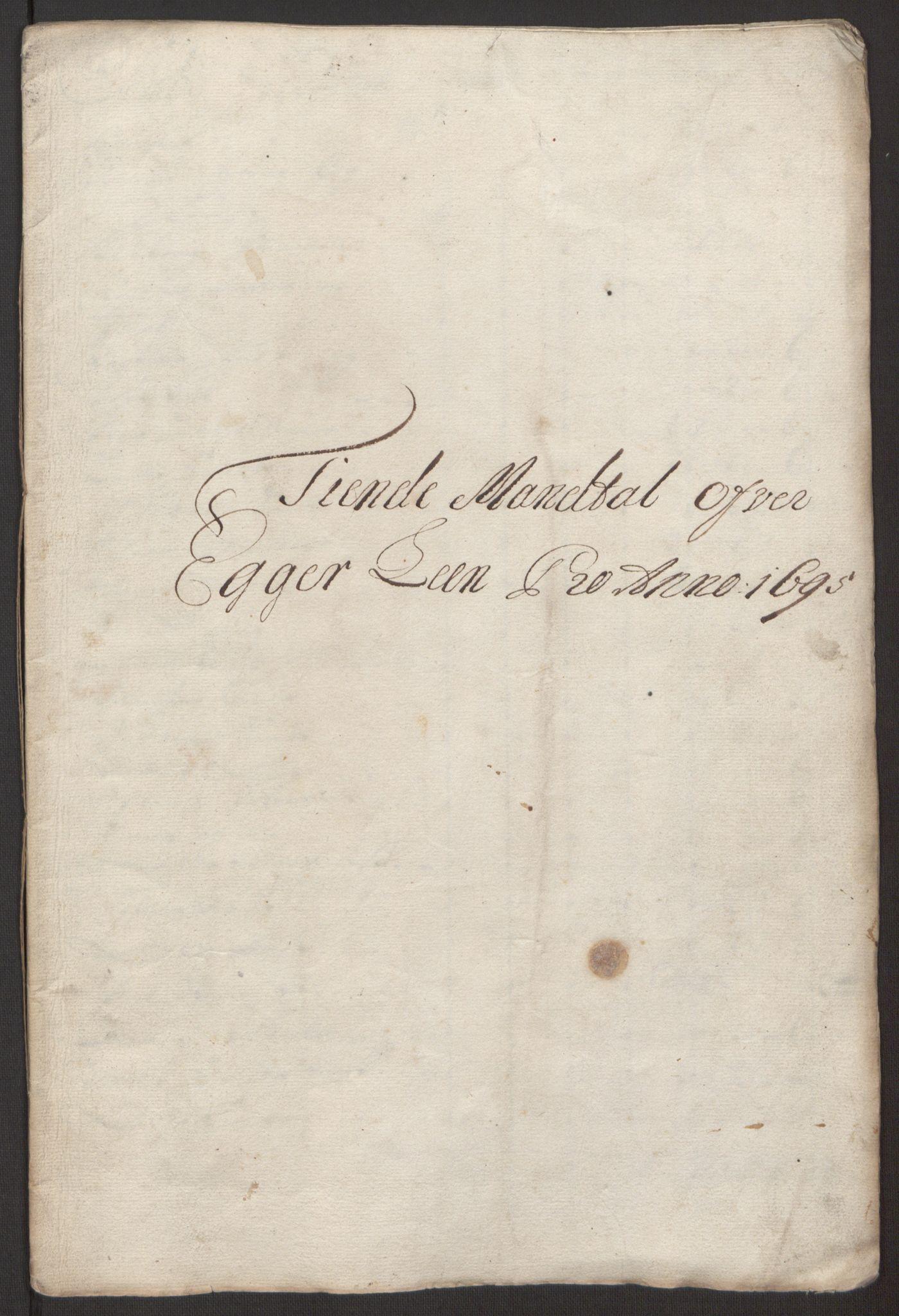 RA, Rentekammeret inntil 1814, Reviderte regnskaper, Fogderegnskap, R30/L1694: Fogderegnskap Hurum, Røyken, Eiker og Lier, 1694-1696, s. 171