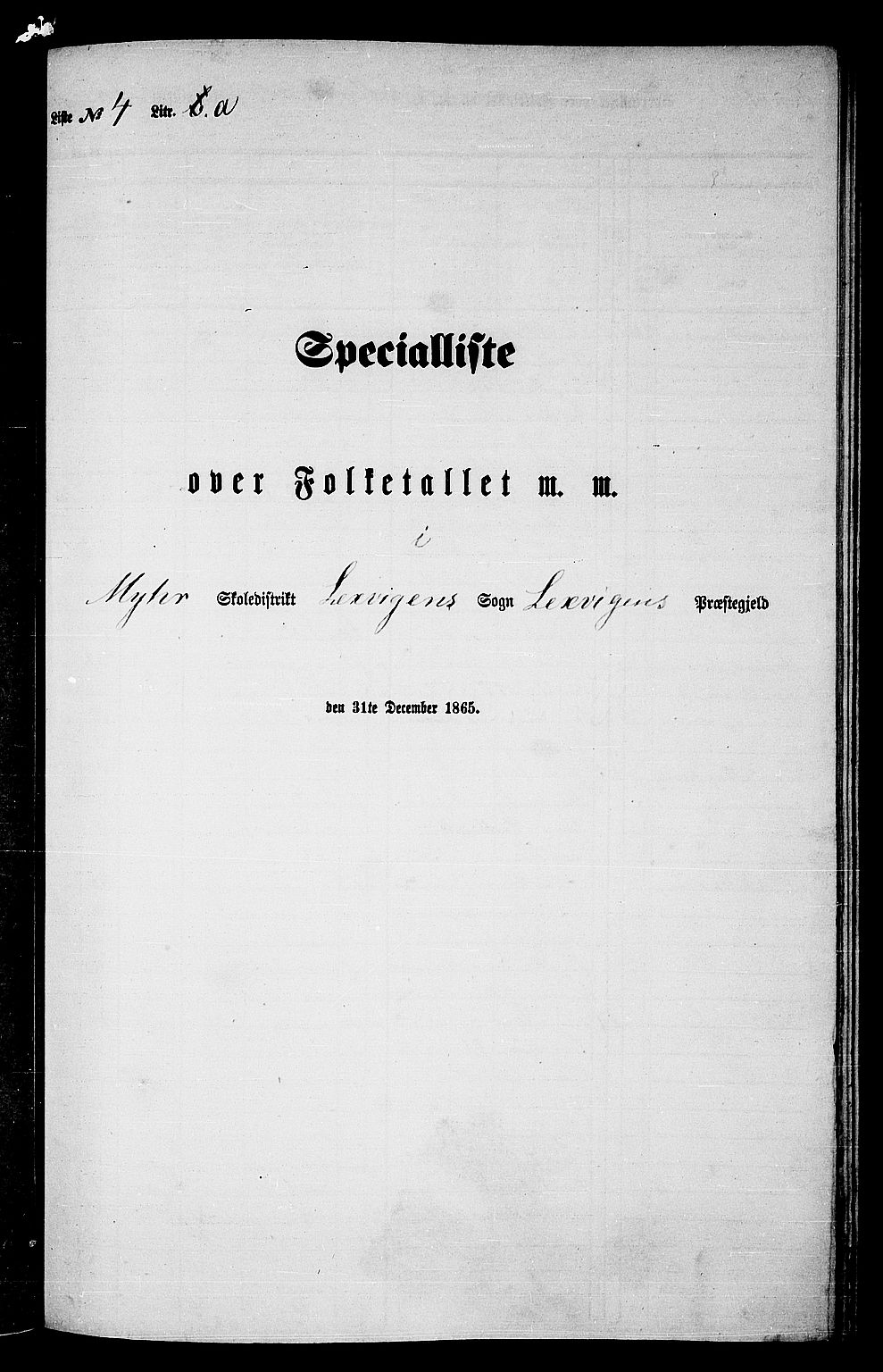 RA, Folketelling 1865 for 1718P Leksvik prestegjeld, 1865, s. 89