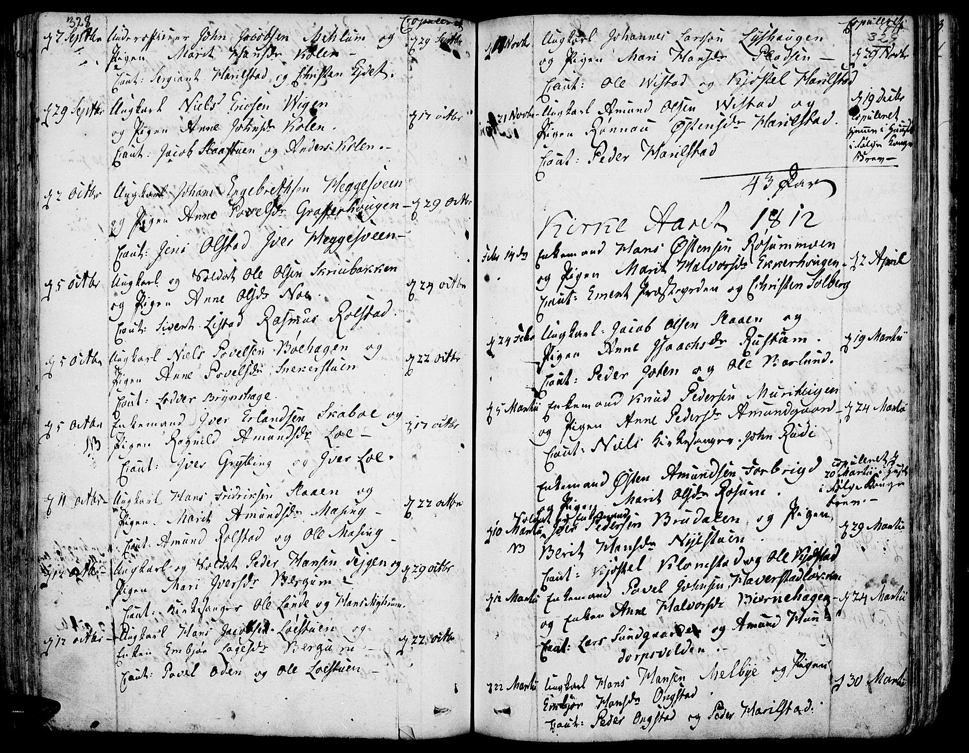 SAH, Fron prestekontor, H/Ha/Haa/L0001: Ministerialbok nr. 1, 1799-1816, s. 328-329