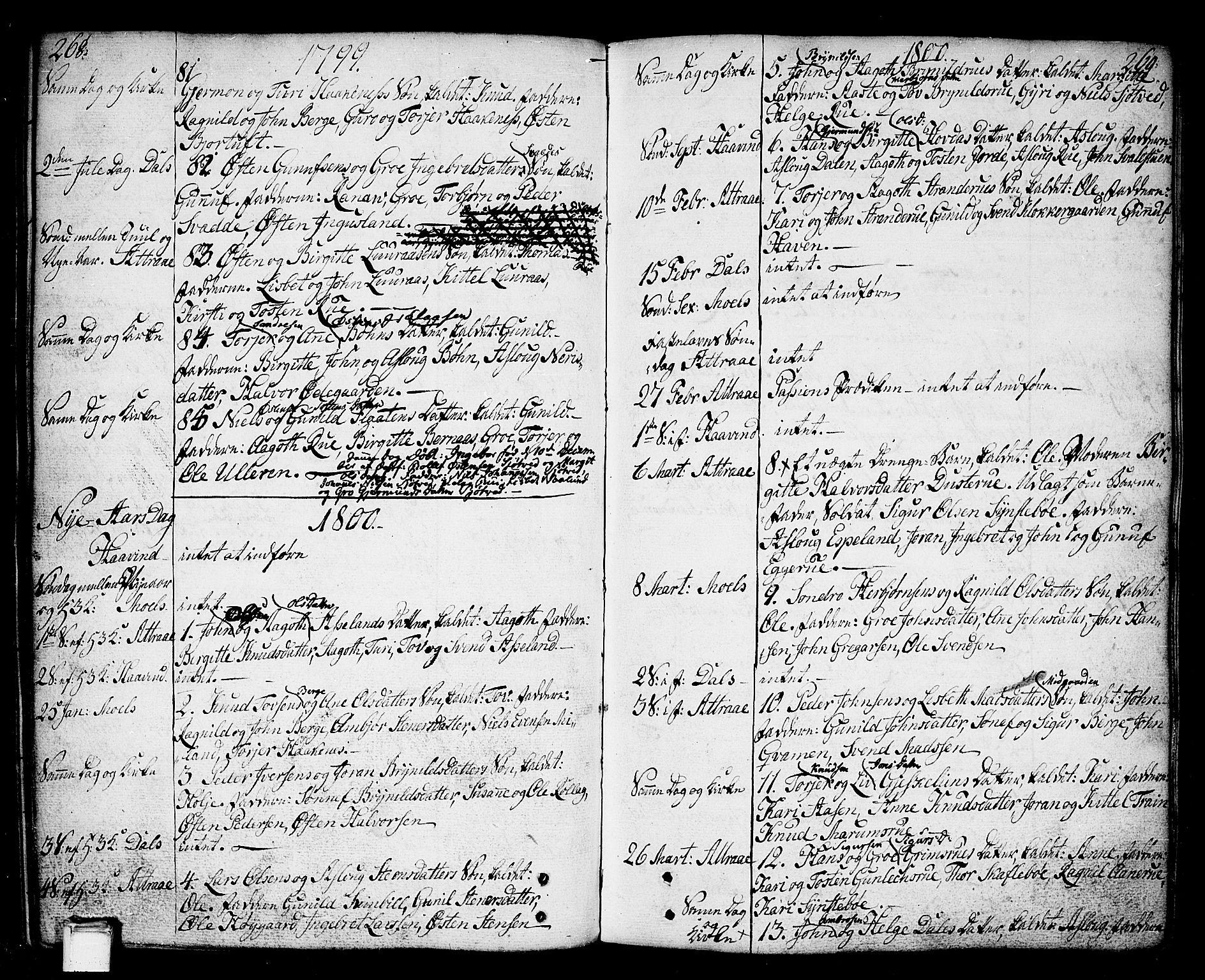 SAKO, Tinn kirkebøker, F/Fa/L0002: Ministerialbok nr. I 2, 1757-1810, s. 268-269