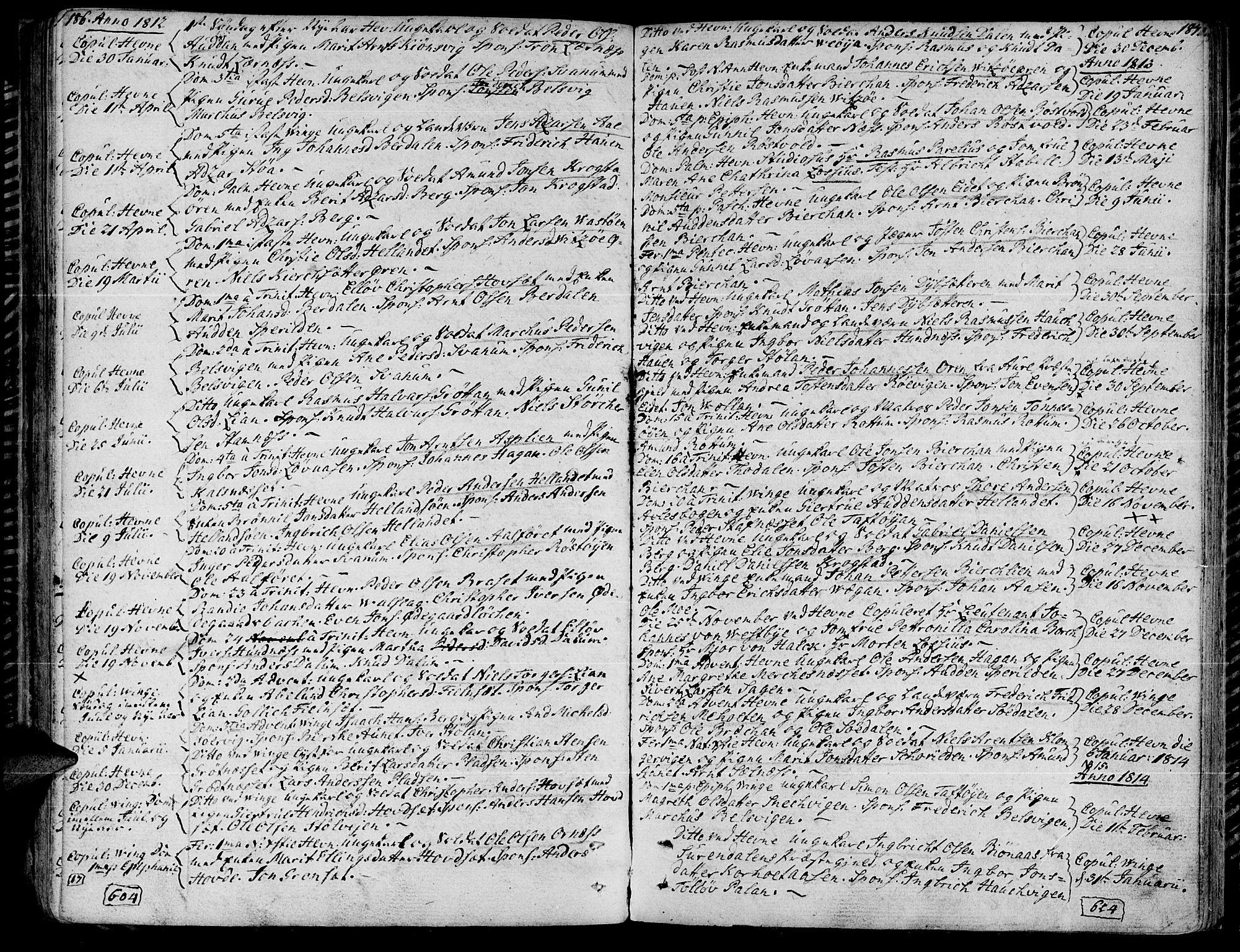 SAT, Ministerialprotokoller, klokkerbøker og fødselsregistre - Sør-Trøndelag, 630/L0490: Ministerialbok nr. 630A03, 1795-1818, s. 186-187