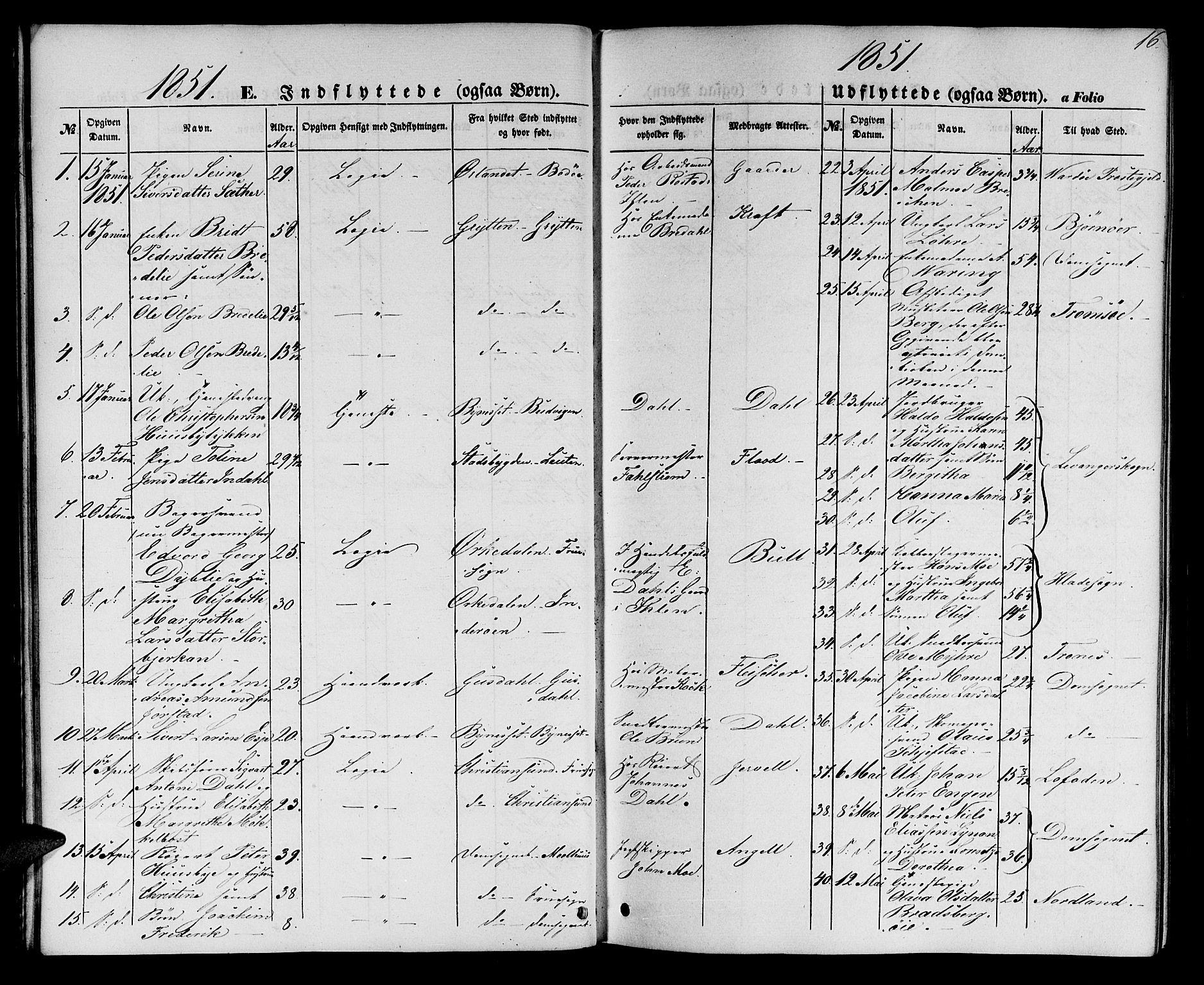SAT, Ministerialprotokoller, klokkerbøker og fødselsregistre - Sør-Trøndelag, 602/L0113: Ministerialbok nr. 602A11, 1849-1861, s. 16