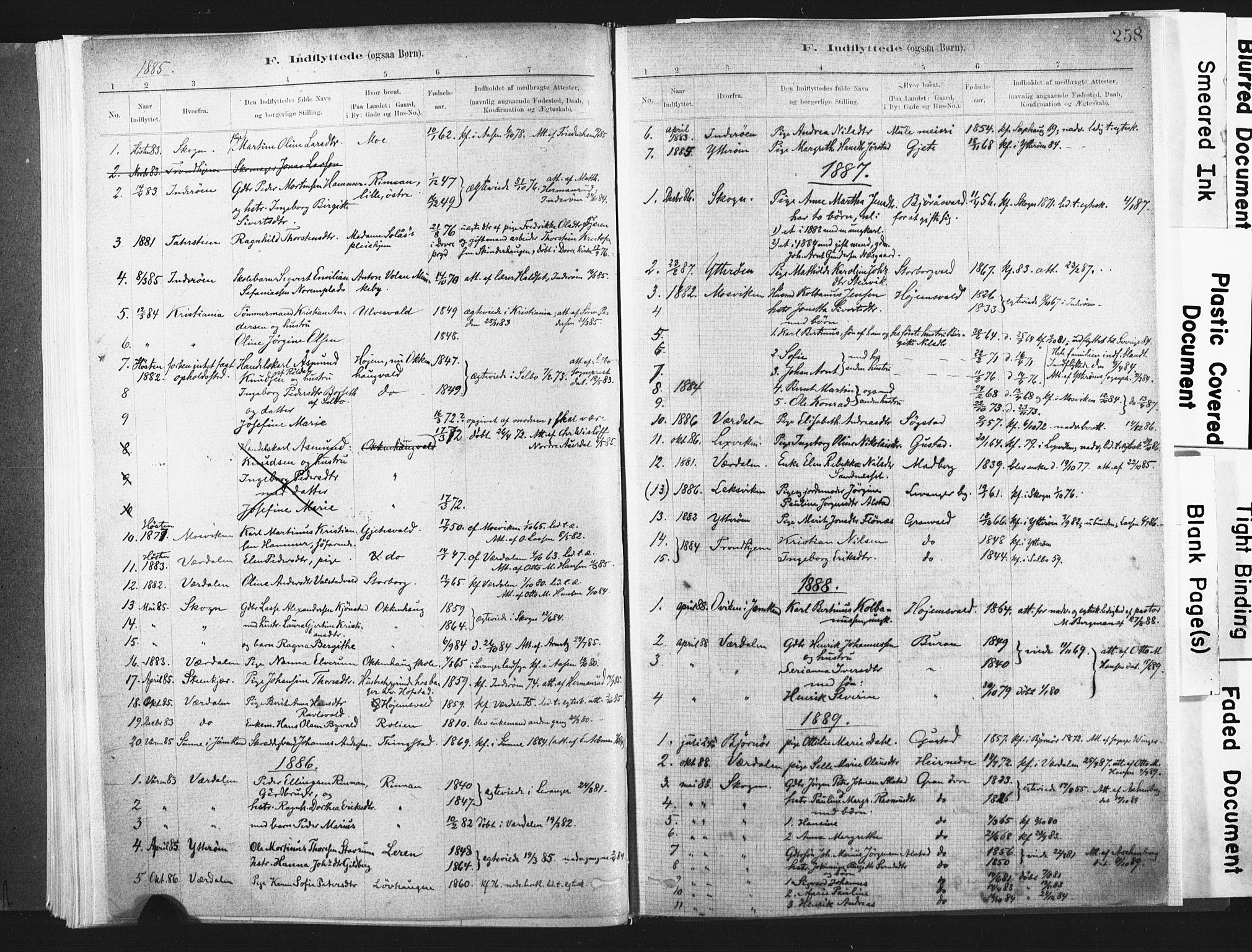 SAT, Ministerialprotokoller, klokkerbøker og fødselsregistre - Nord-Trøndelag, 721/L0207: Ministerialbok nr. 721A02, 1880-1911, s. 258