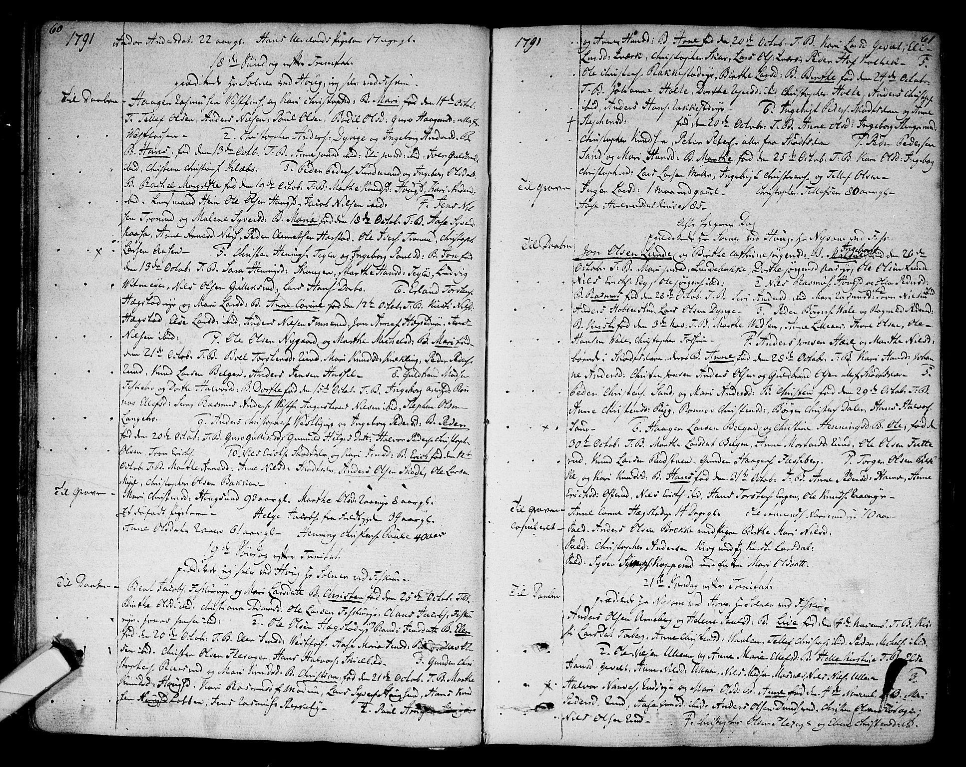 SAKO, Eiker kirkebøker, F/Fa/L0009: Ministerialbok nr. I 9, 1789-1806, s. 60-61