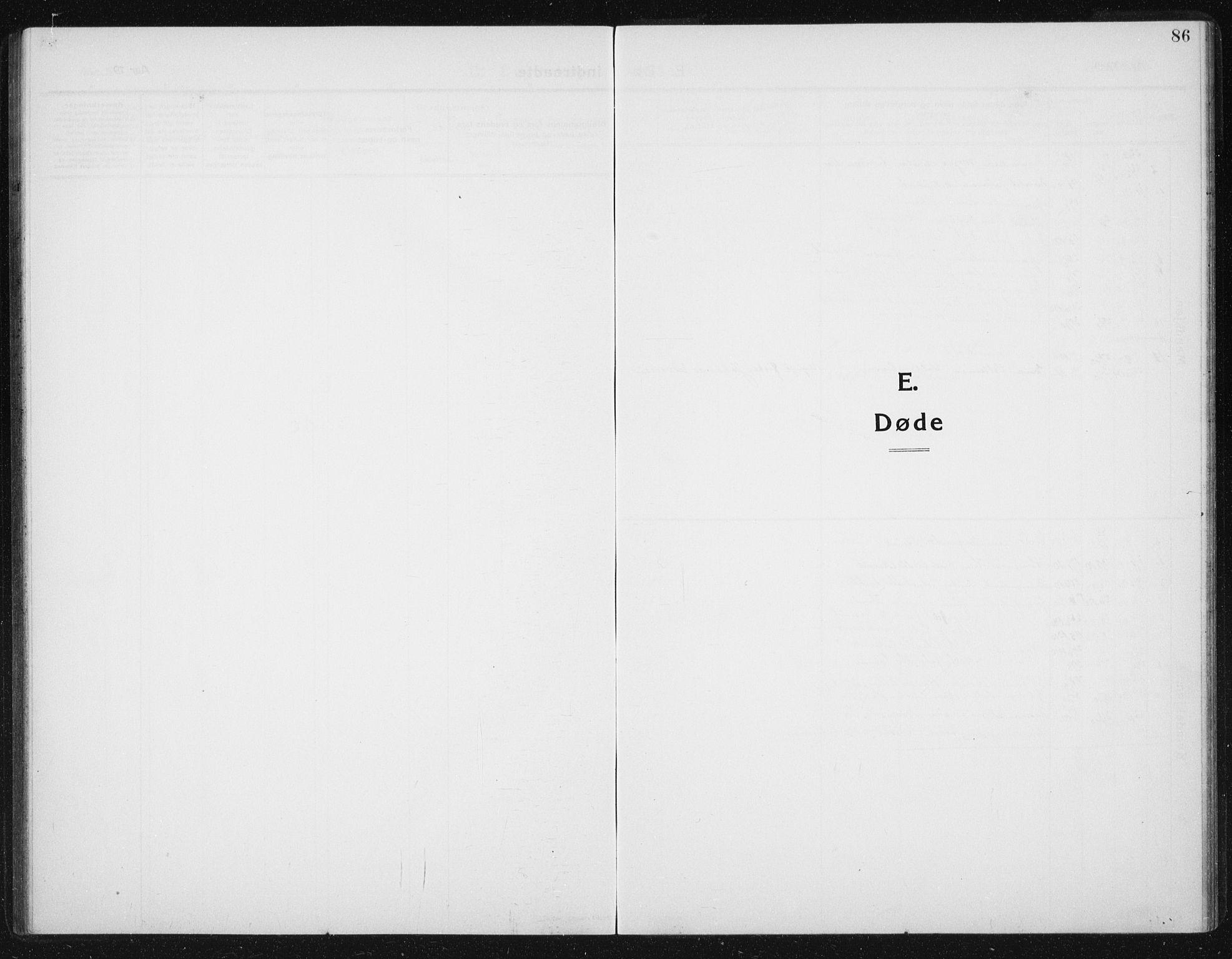 SAT, Ministerialprotokoller, klokkerbøker og fødselsregistre - Sør-Trøndelag, 652/L0654: Klokkerbok nr. 652C02, 1910-1937, s. 86
