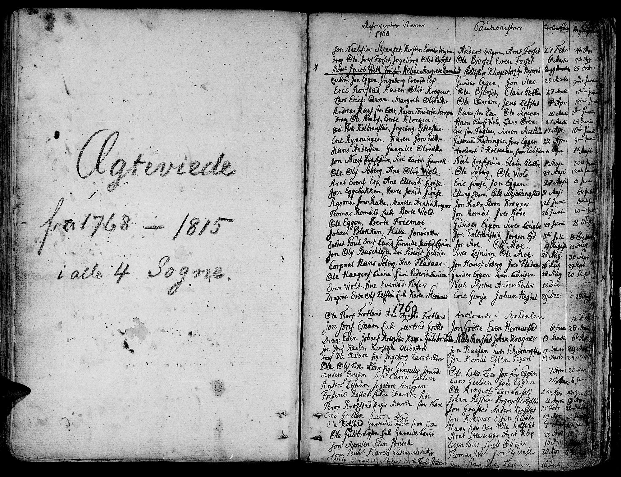 SAT, Ministerialprotokoller, klokkerbøker og fødselsregistre - Sør-Trøndelag, 691/L1061: Ministerialbok nr. 691A02 /1, 1768-1815, s. 180