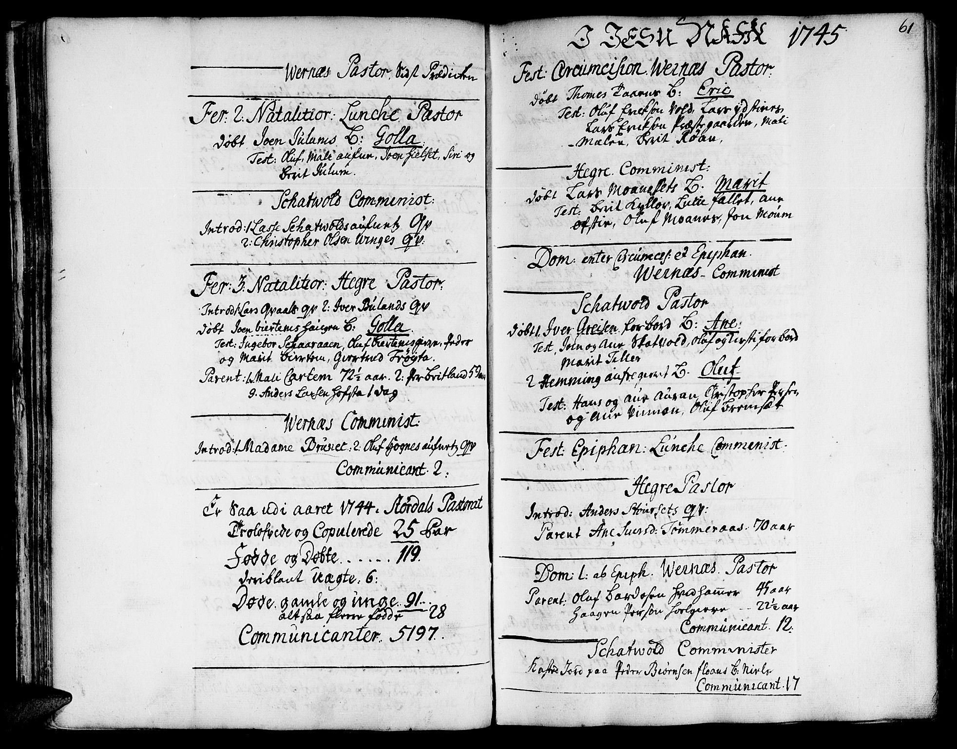 SAT, Ministerialprotokoller, klokkerbøker og fødselsregistre - Nord-Trøndelag, 709/L0056: Ministerialbok nr. 709A04, 1740-1756, s. 61