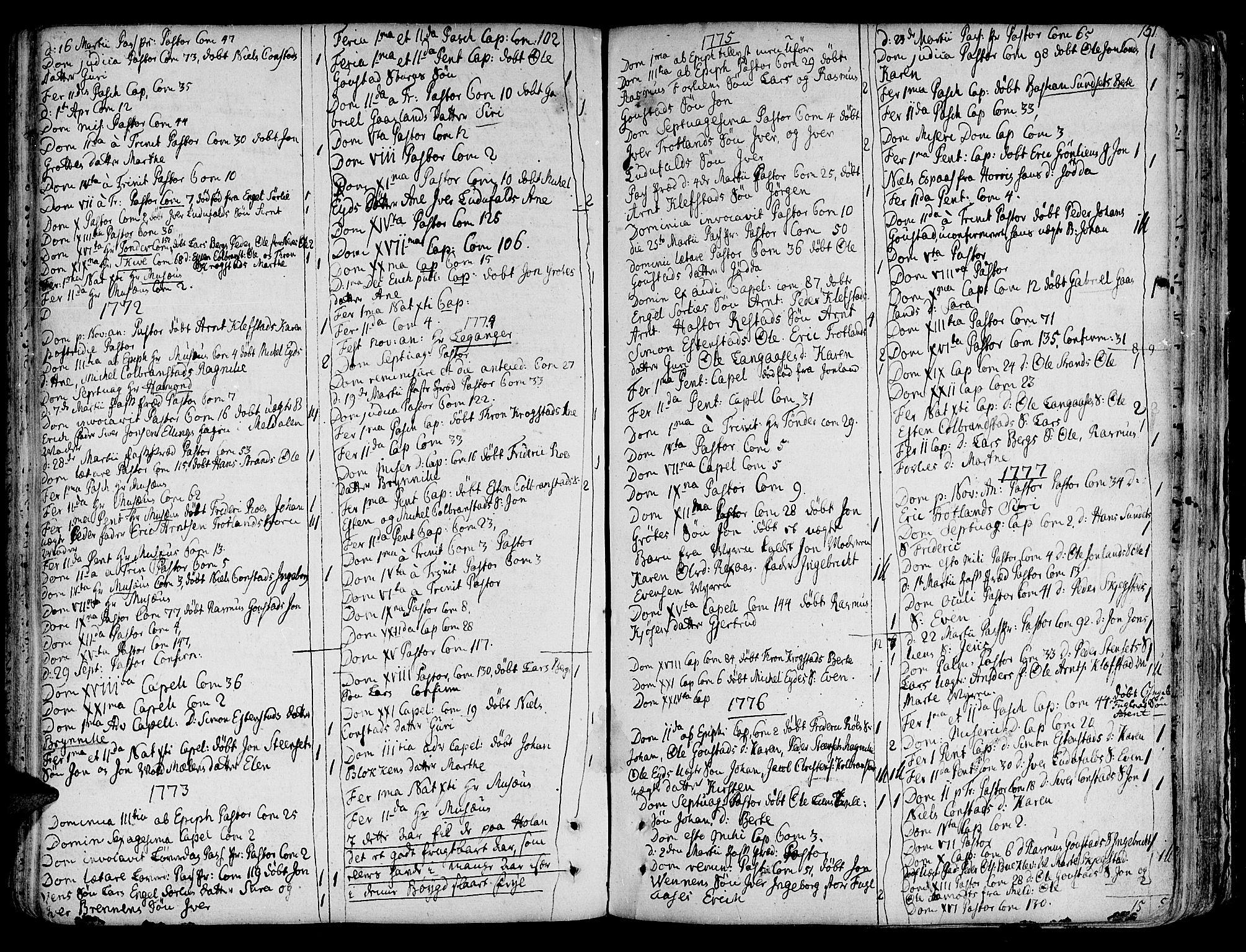 SAT, Ministerialprotokoller, klokkerbøker og fødselsregistre - Sør-Trøndelag, 691/L1064: Ministerialbok nr. 691A02 /4, 1768-1815, s. 151