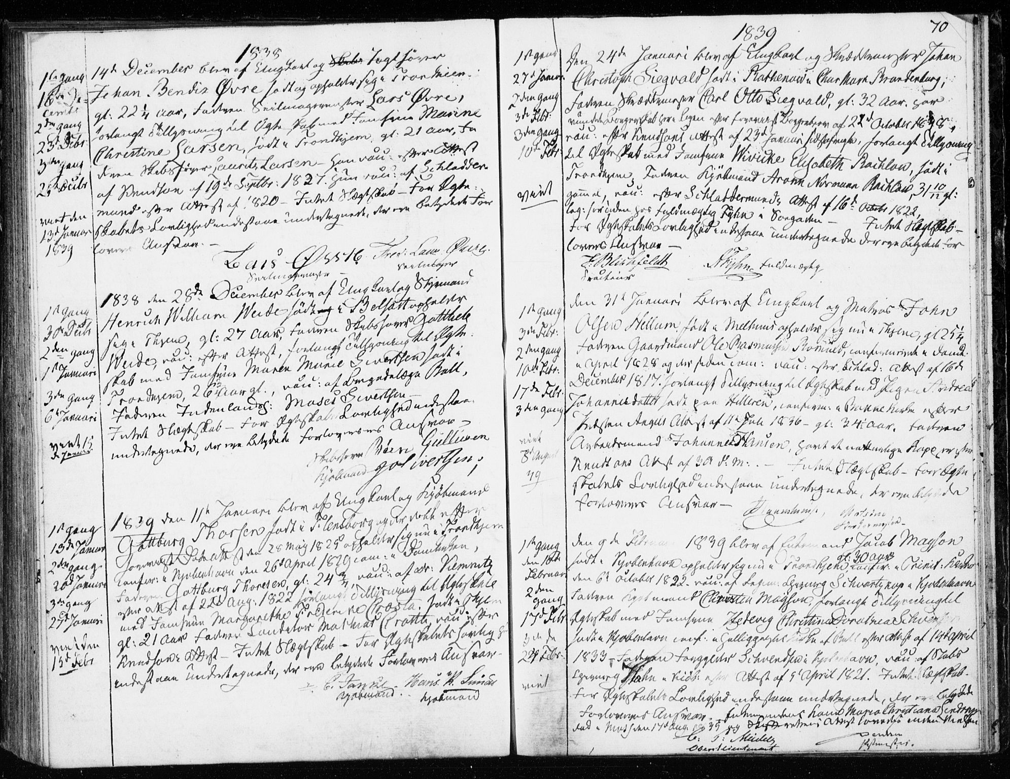 SAT, Ministerialprotokoller, klokkerbøker og fødselsregistre - Sør-Trøndelag, 601/L0046: Ministerialbok nr. 601A14, 1830-1841, s. 70