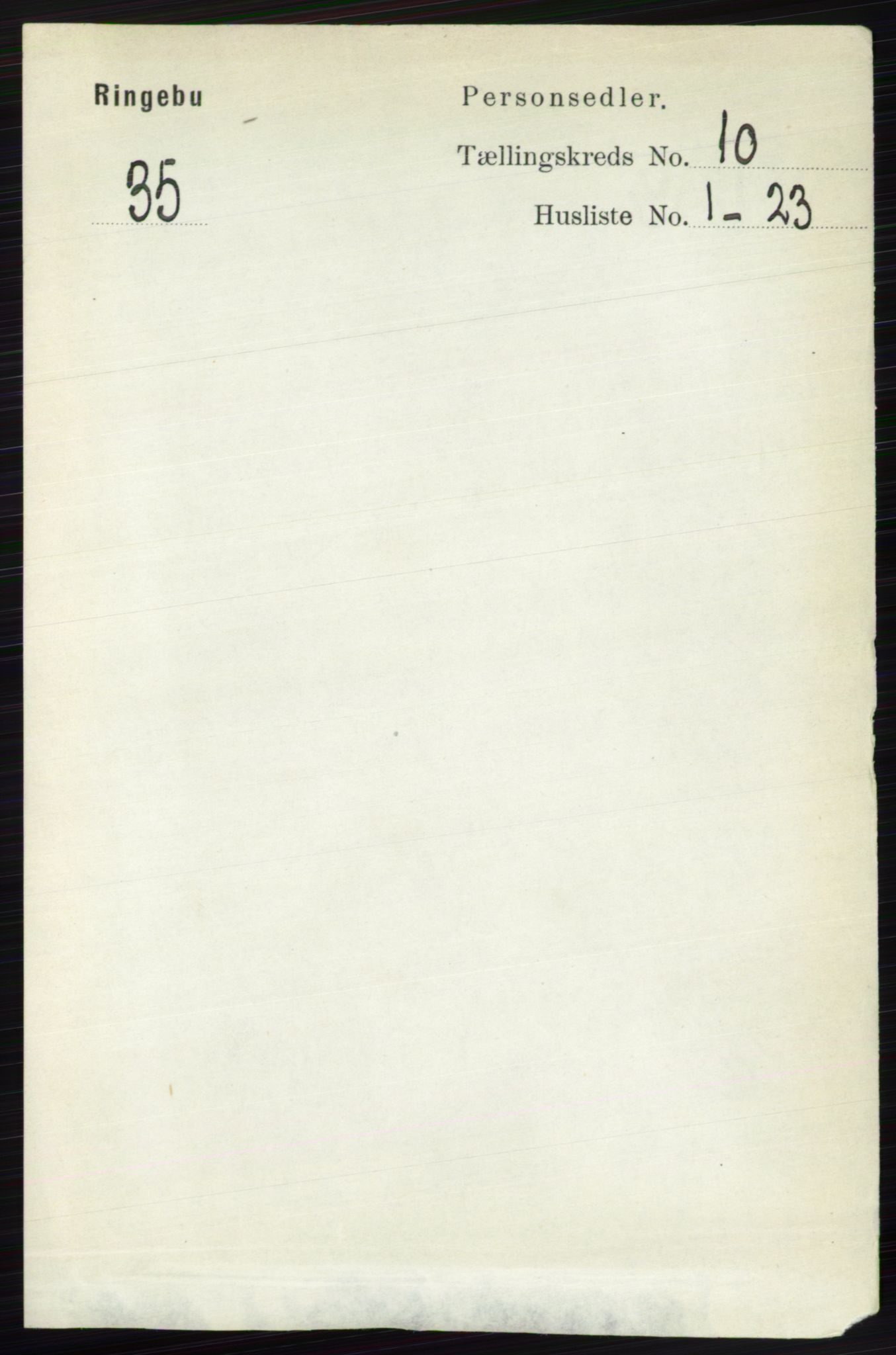 RA, Folketelling 1891 for 0520 Ringebu herred, 1891, s. 4804
