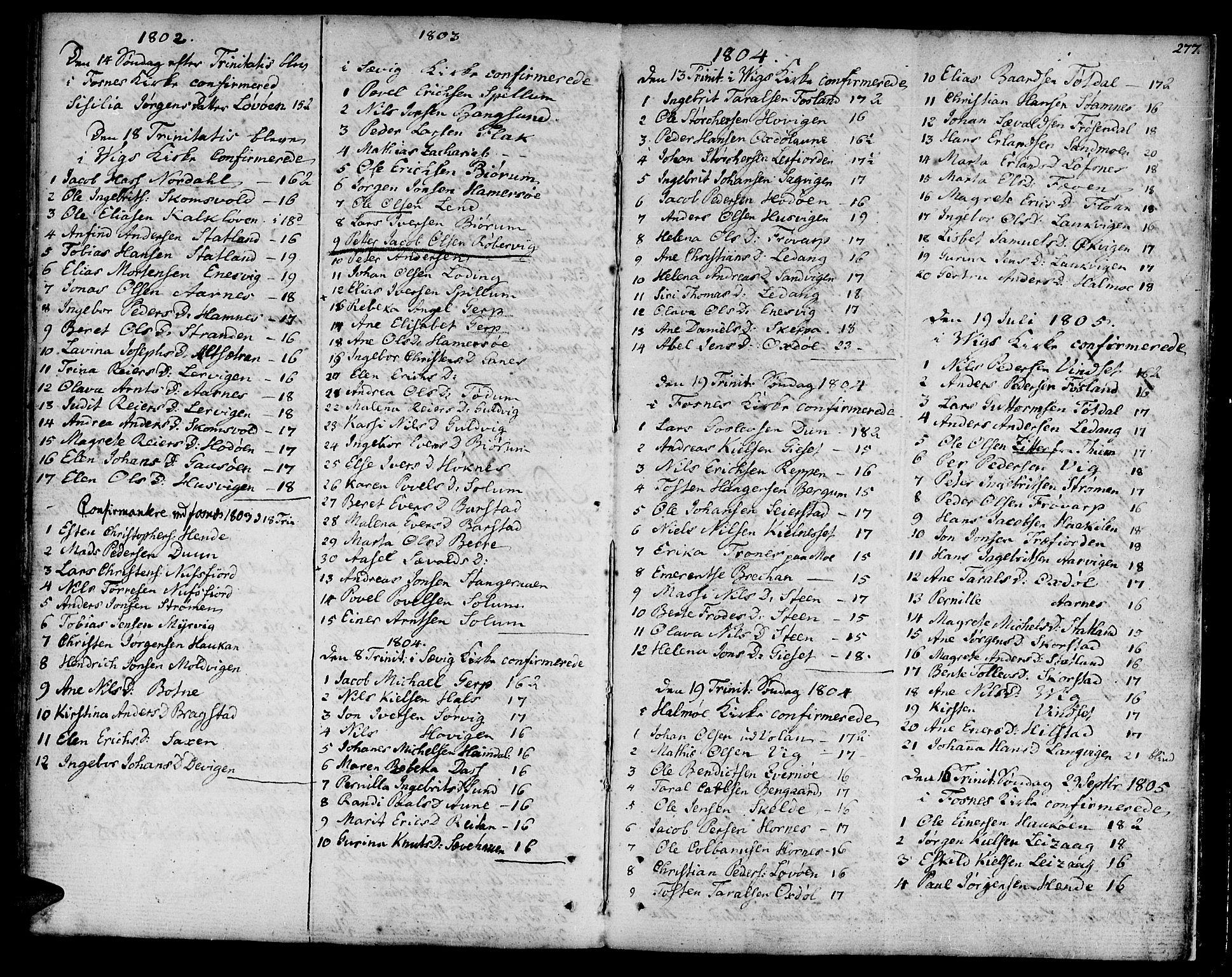 SAT, Ministerialprotokoller, klokkerbøker og fødselsregistre - Nord-Trøndelag, 773/L0608: Ministerialbok nr. 773A02, 1784-1816, s. 277