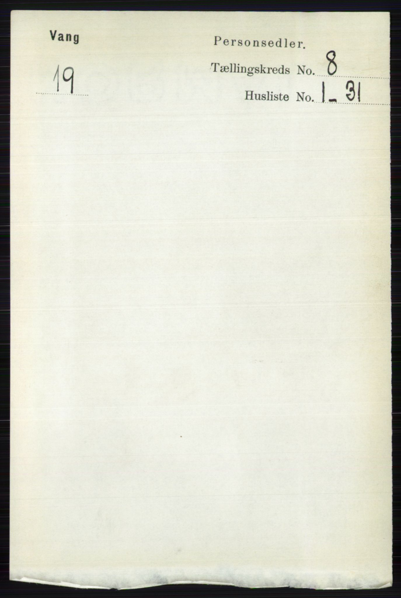 RA, Folketelling 1891 for 0545 Vang herred, 1891, s. 1761