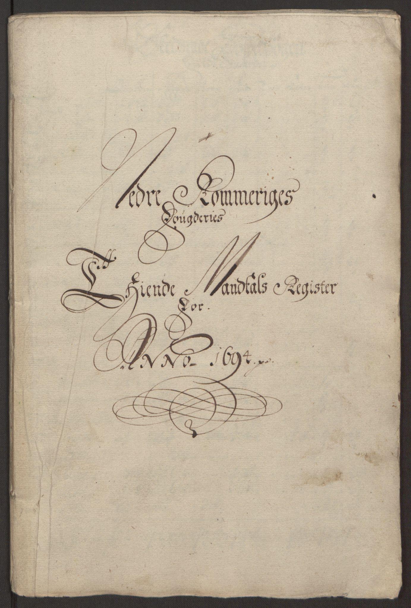 RA, Rentekammeret inntil 1814, Reviderte regnskaper, Fogderegnskap, R11/L0579: Fogderegnskap Nedre Romerike, 1694-1695, s. 27