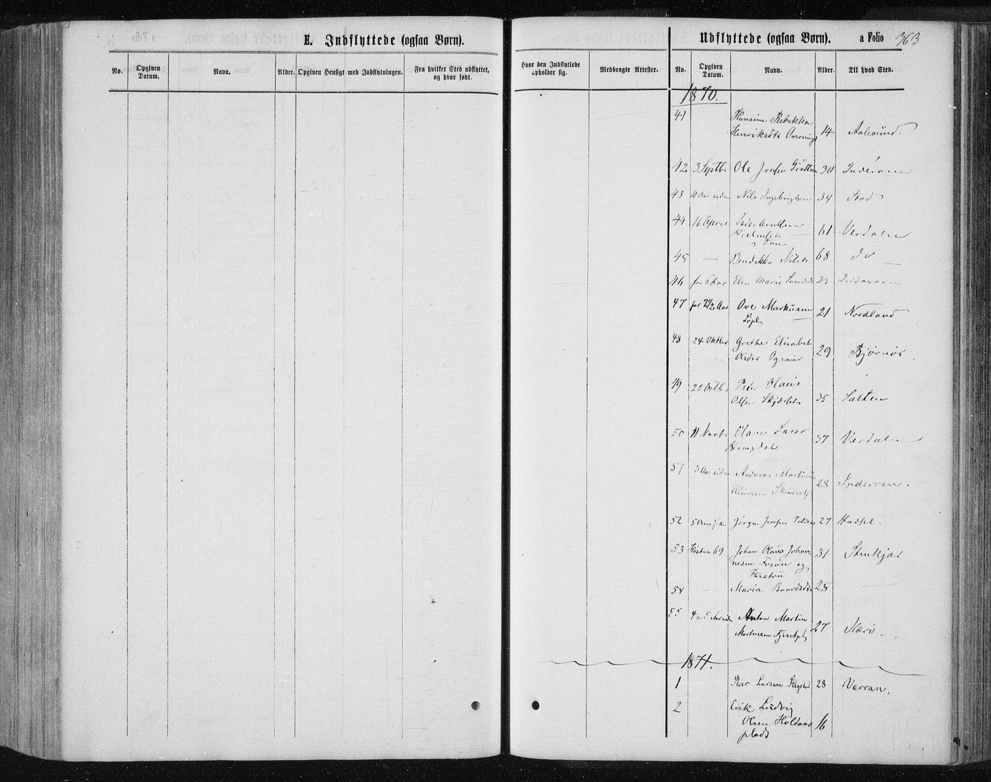 SAT, Ministerialprotokoller, klokkerbøker og fødselsregistre - Nord-Trøndelag, 735/L0345: Ministerialbok nr. 735A08 /1, 1863-1872, s. 363