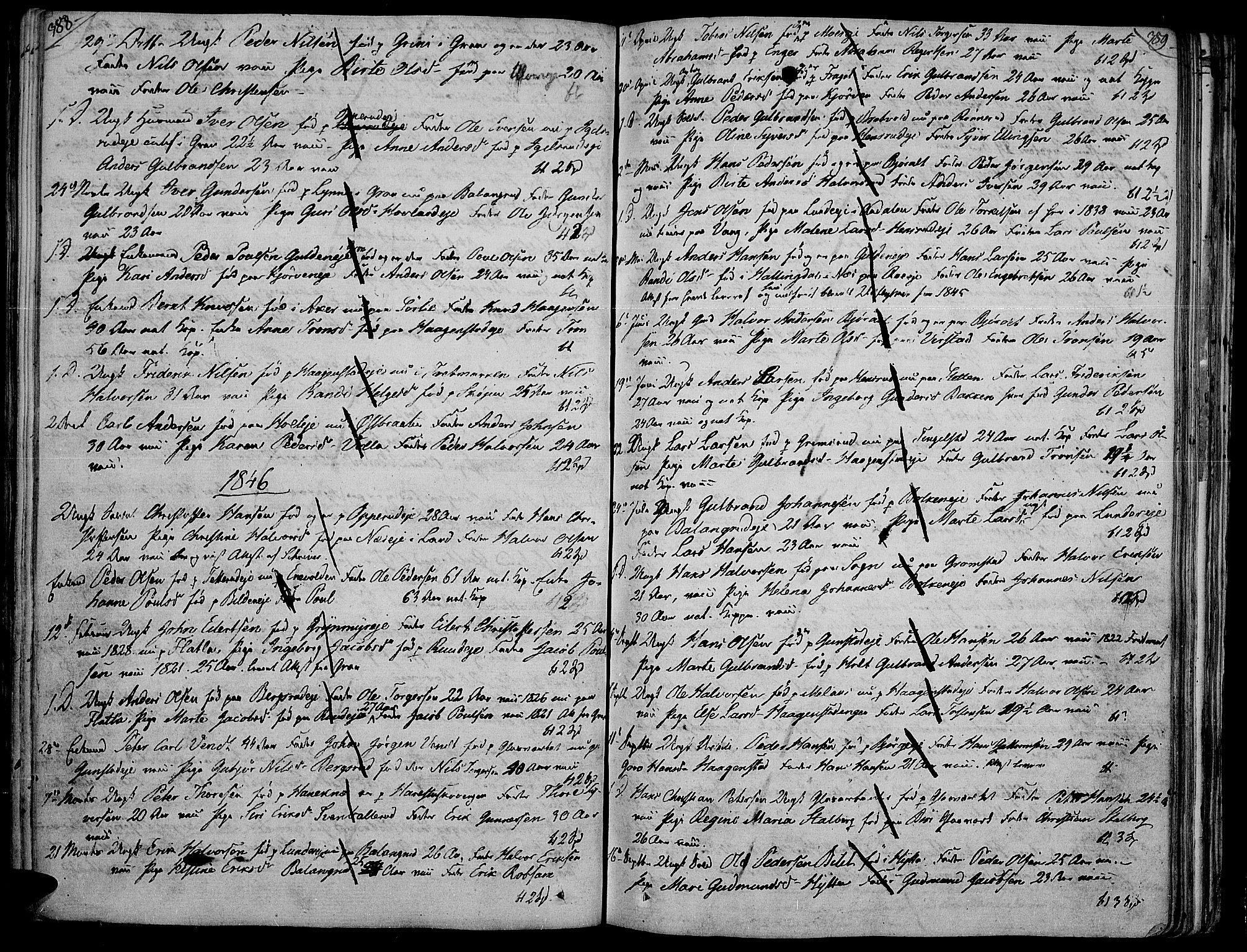 SAH, Jevnaker prestekontor, Ministerialbok nr. 4, 1800-1861, s. 388-389