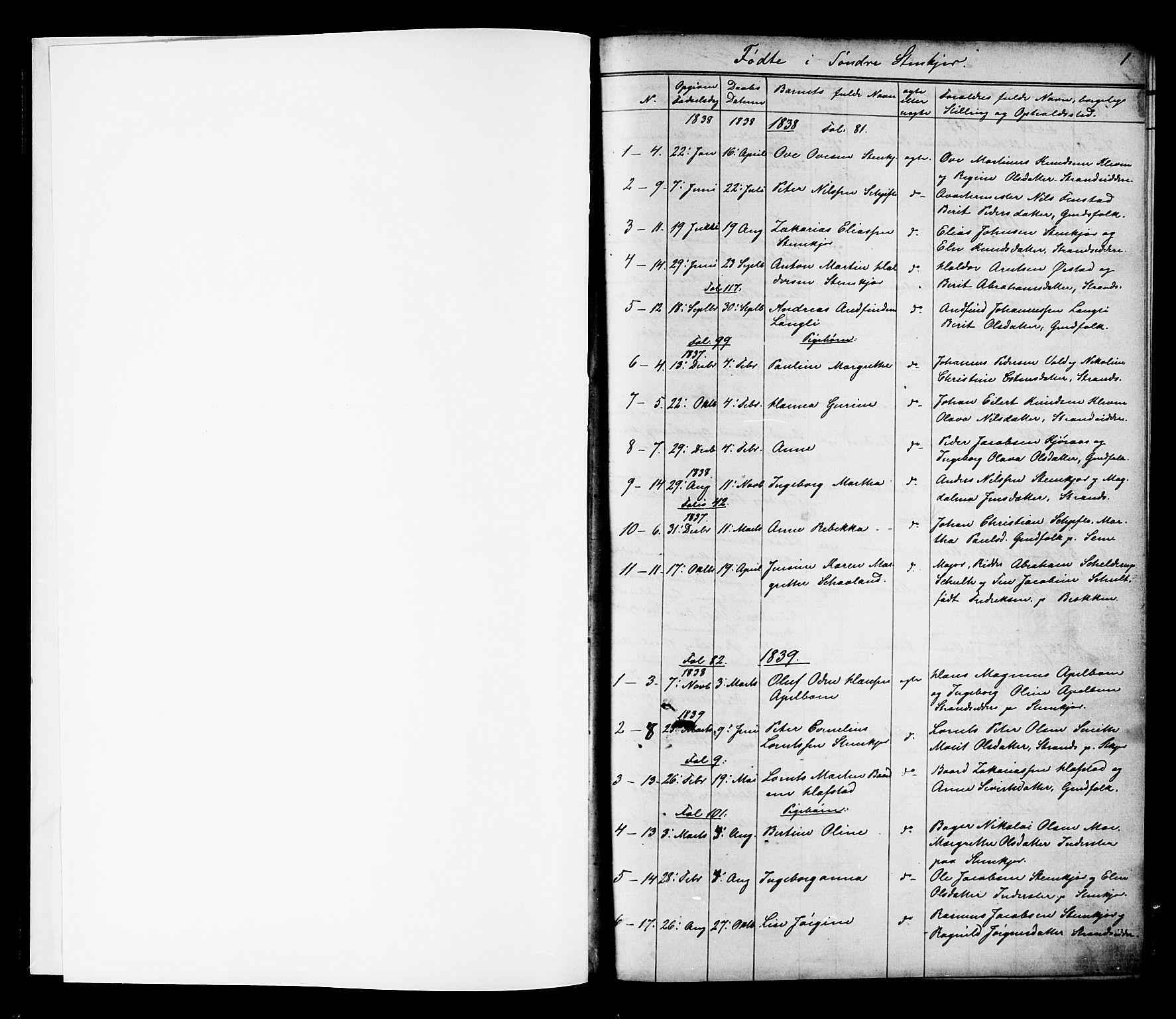 SAT, Ministerialprotokoller, klokkerbøker og fødselsregistre - Nord-Trøndelag, 739/L0367: Ministerialbok nr. 739A01 /1, 1838-1868, s. 0-1