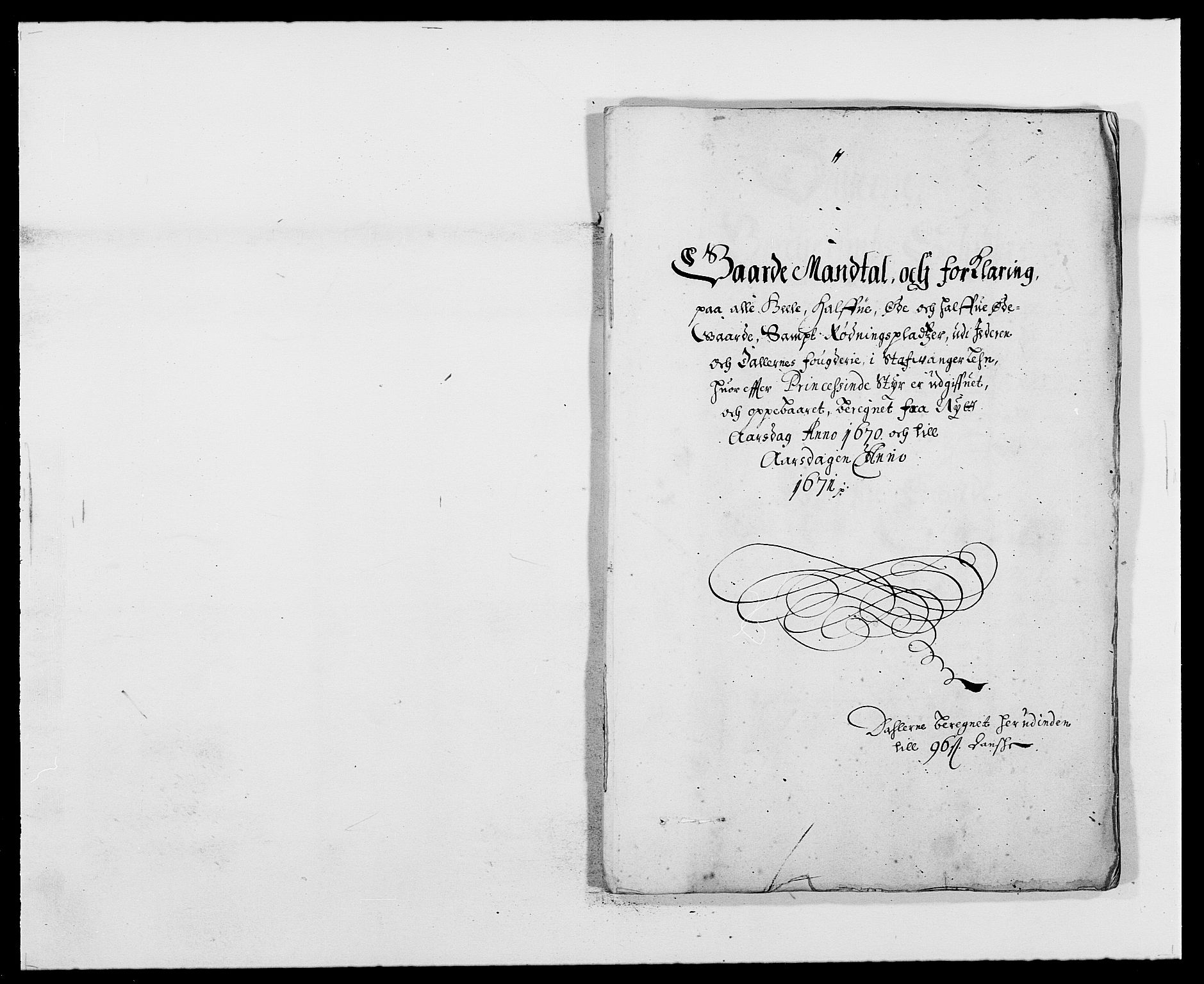 RA, Rentekammeret inntil 1814, Reviderte regnskaper, Fogderegnskap, R46/L2712: Fogderegnskap Jæren og Dalane, 1670-1671, s. 195