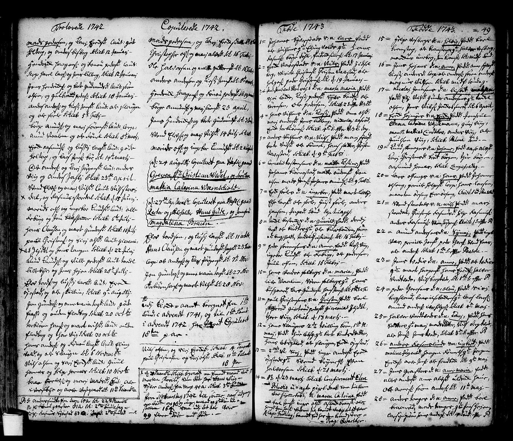 SAO, Skjeberg prestekontor Kirkebøker, F/Fa/L0002: Ministerialbok nr. I 2, 1726-1791, s. 49