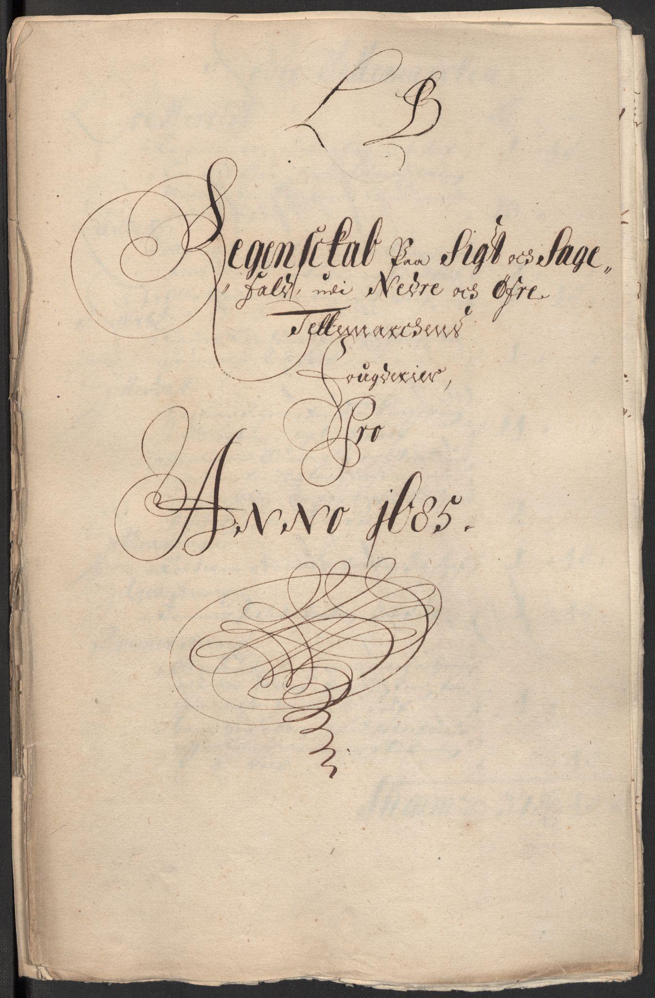 RA, Rentekammeret inntil 1814, Reviderte regnskaper, Fogderegnskap, R35/L2082: Fogderegnskap Øvre og Nedre Telemark, 1685, s. 48