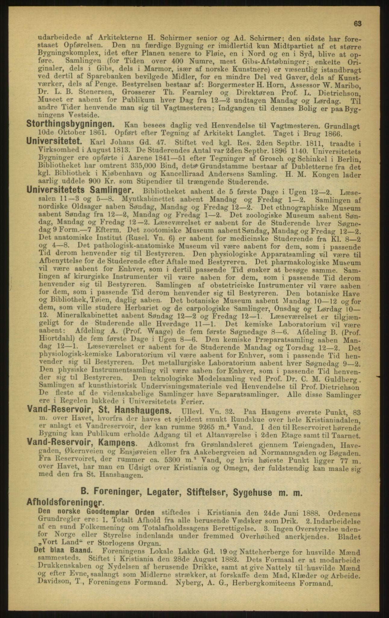 PUBL, Kristiania/Oslo adressebok, 1897, s. 63