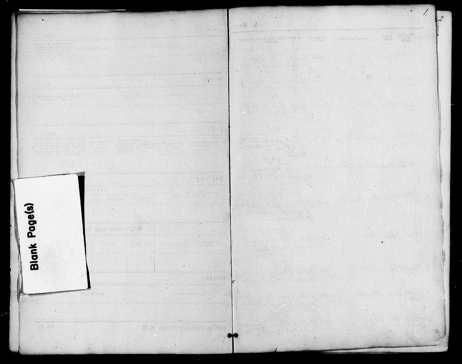 SAH, Vardal prestekontor, H/Ha/Haa/L0007: Ministerialbok nr. 7, 1867-1878, s. 1