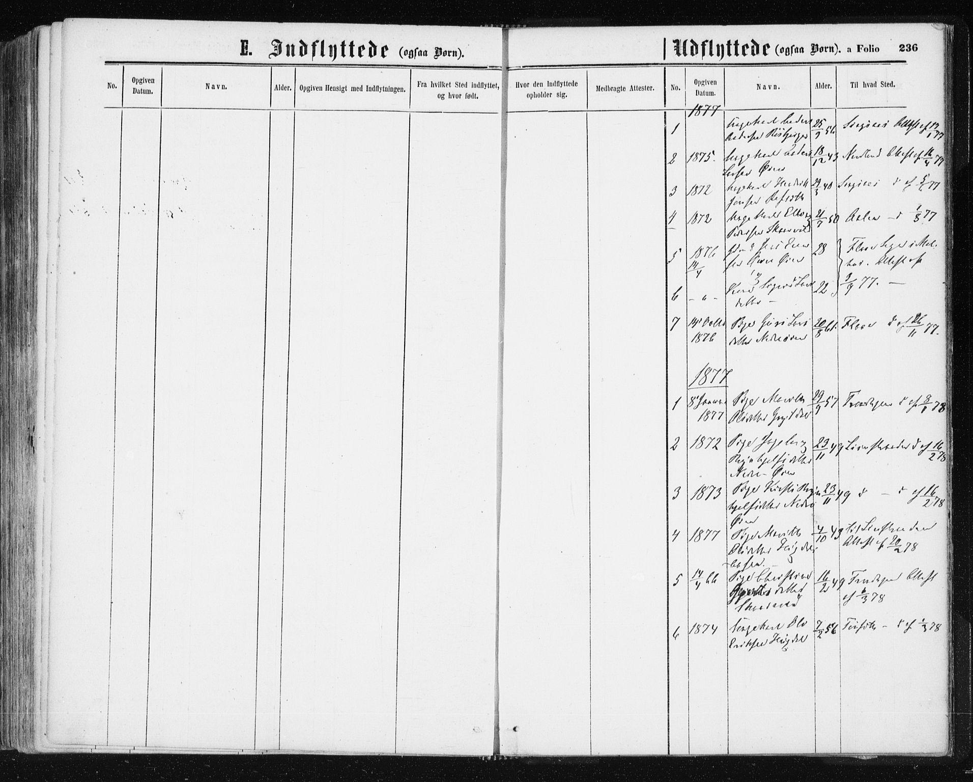 SAT, Ministerialprotokoller, klokkerbøker og fødselsregistre - Sør-Trøndelag, 687/L1001: Ministerialbok nr. 687A07, 1863-1878, s. 236