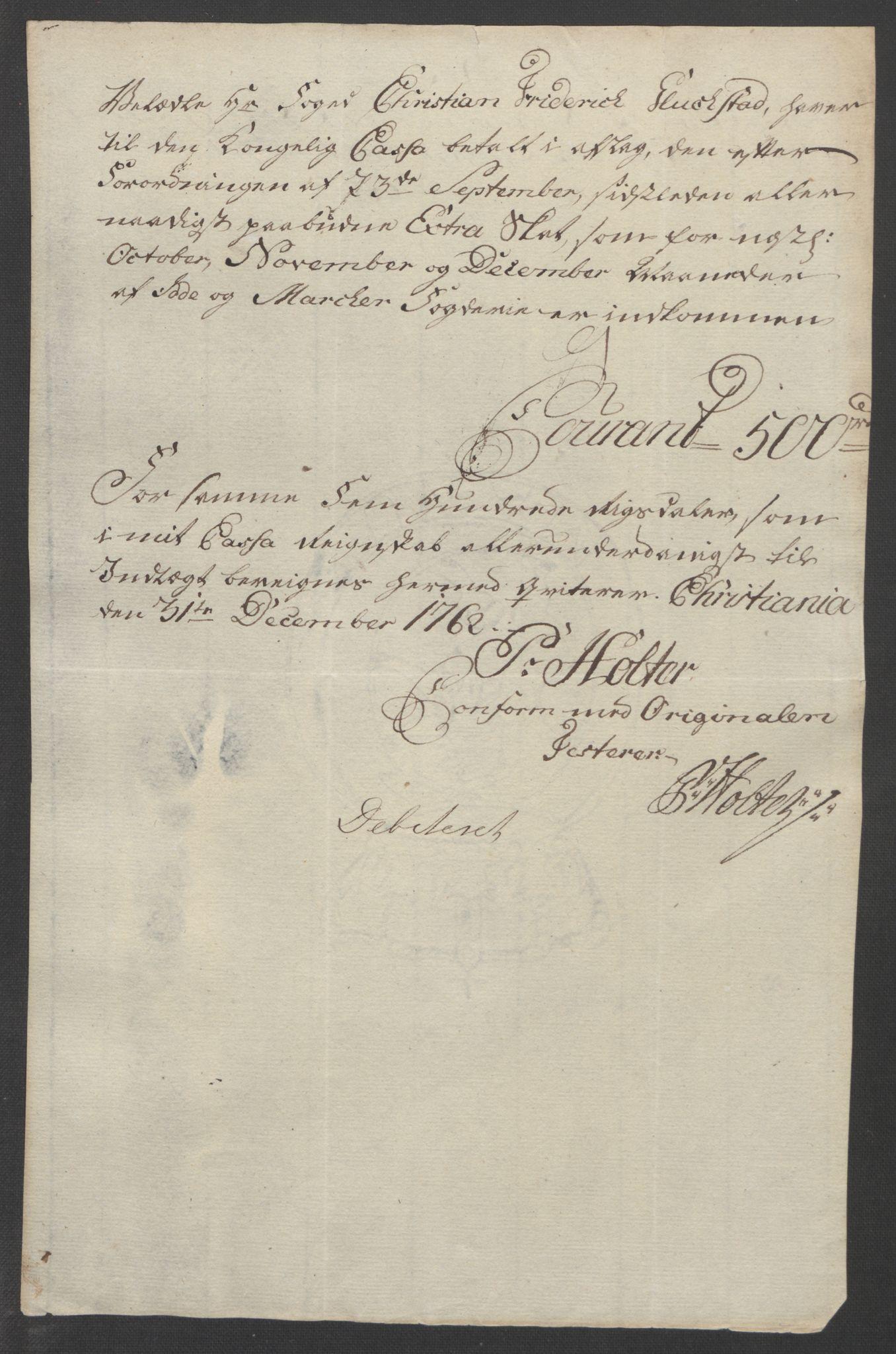 RA, Rentekammeret inntil 1814, Reviderte regnskaper, Fogderegnskap, R01/L0097: Ekstraskatten Idd og Marker, 1756-1767, s. 96