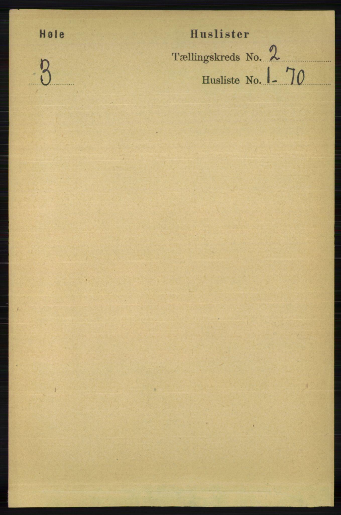 RA, Folketelling 1891 for 1128 Høle herred, 1891, s. 146