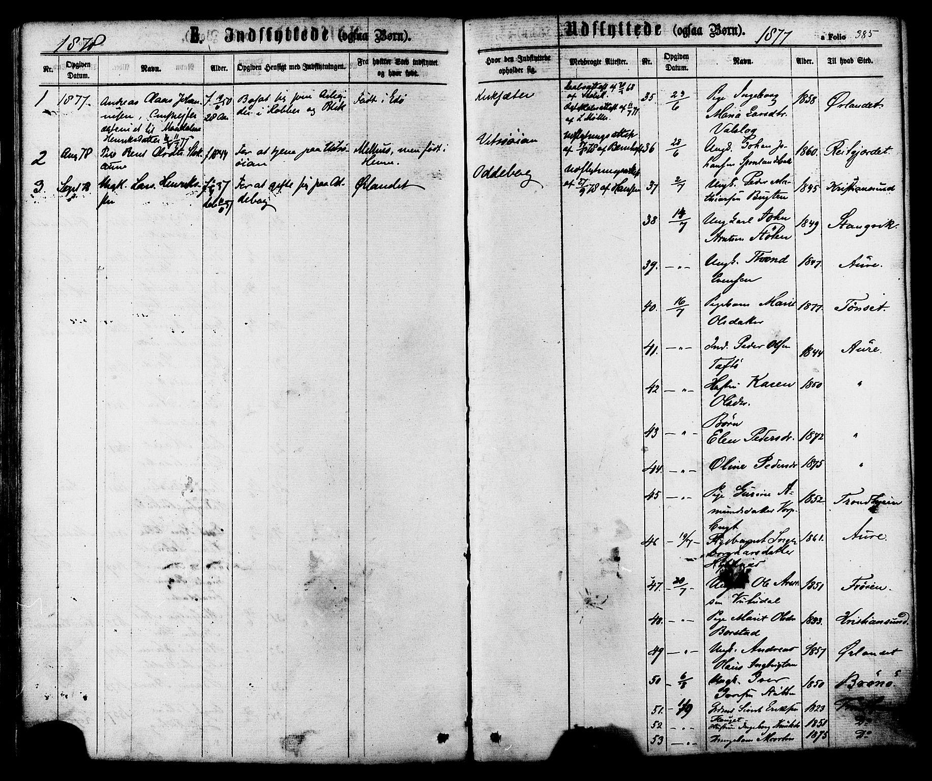 SAT, Ministerialprotokoller, klokkerbøker og fødselsregistre - Sør-Trøndelag, 630/L0495: Ministerialbok nr. 630A08, 1868-1878, s. 385