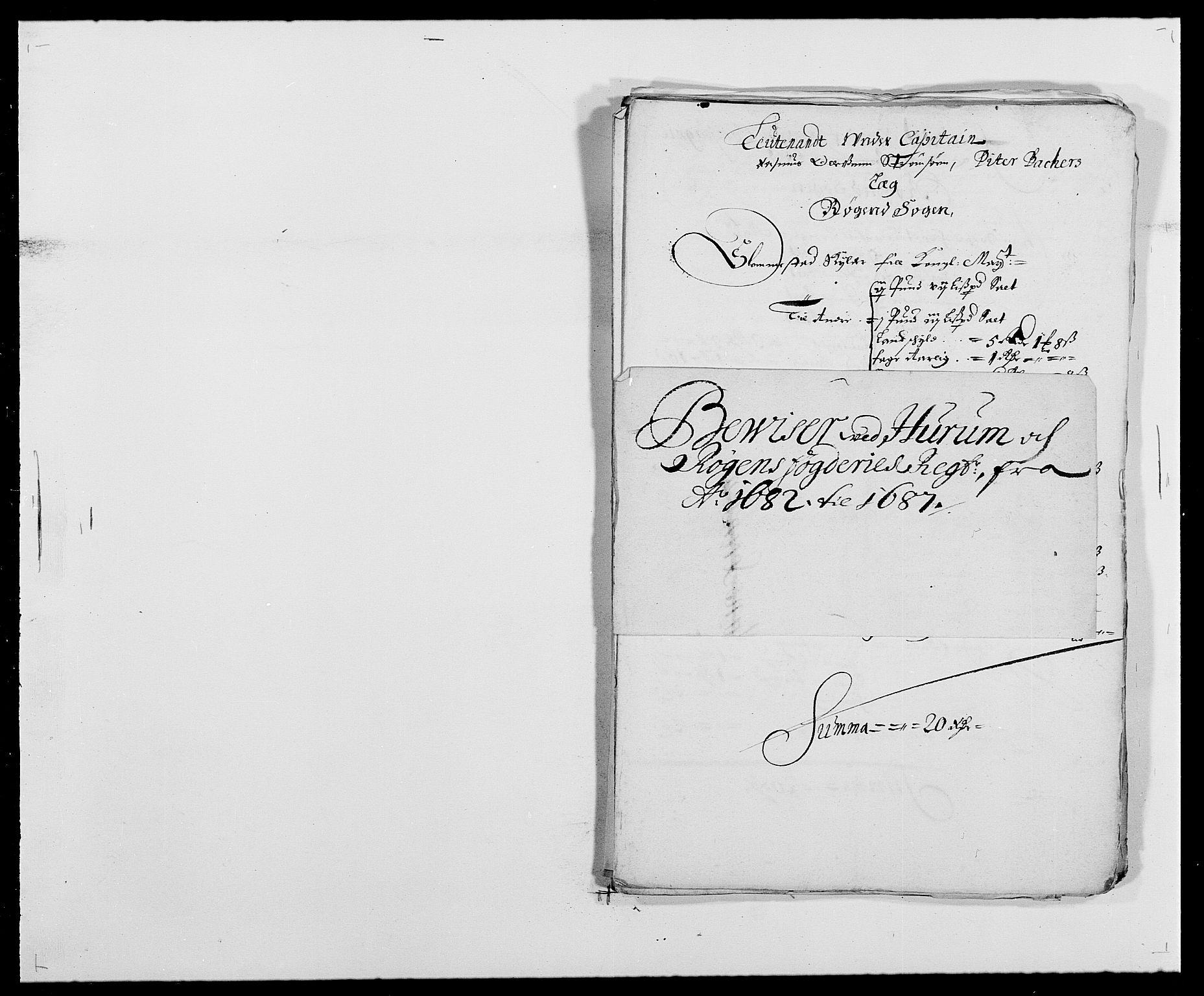 RA, Rentekammeret inntil 1814, Reviderte regnskaper, Fogderegnskap, R29/L1692: Fogderegnskap Hurum og Røyken, 1682-1687, s. 340