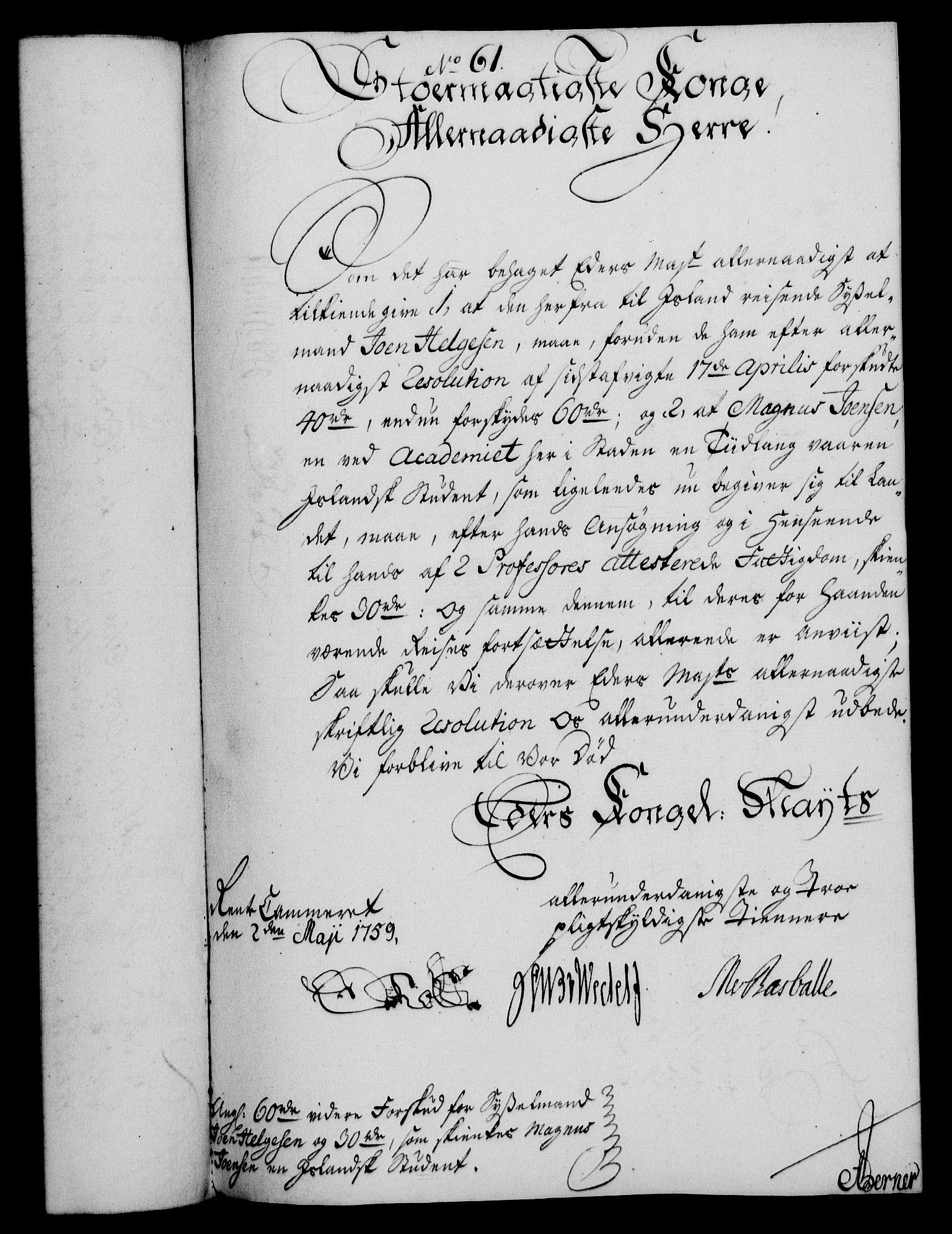RA, Rentekammeret, Kammerkanselliet, G/Gf/Gfa/L0041: Norsk relasjons- og resolusjonsprotokoll (merket RK 52.41), 1759, s. 314