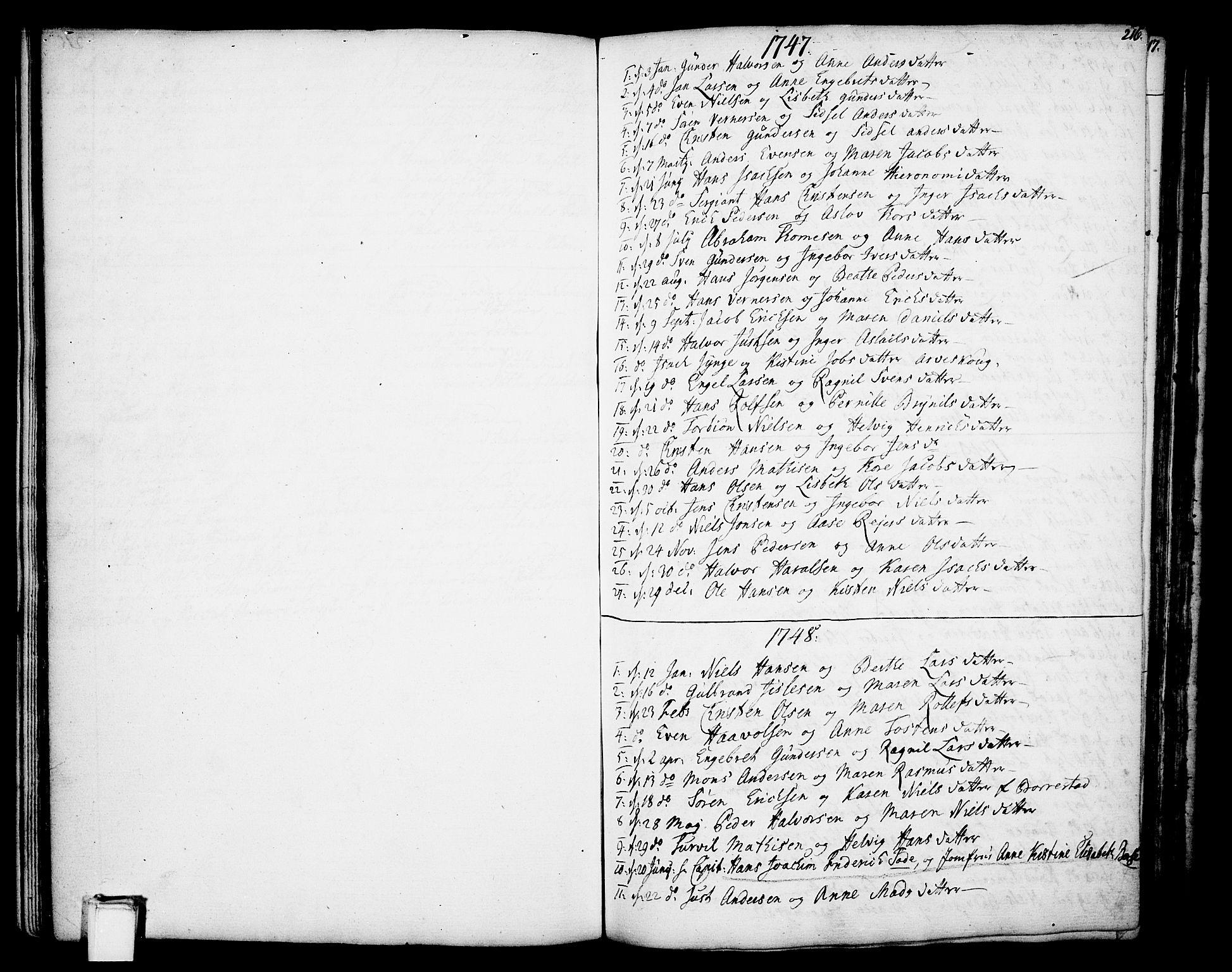 SAKO, Gjerpen kirkebøker, F/Fa/L0002: Ministerialbok nr. 2, 1747-1795, s. 216