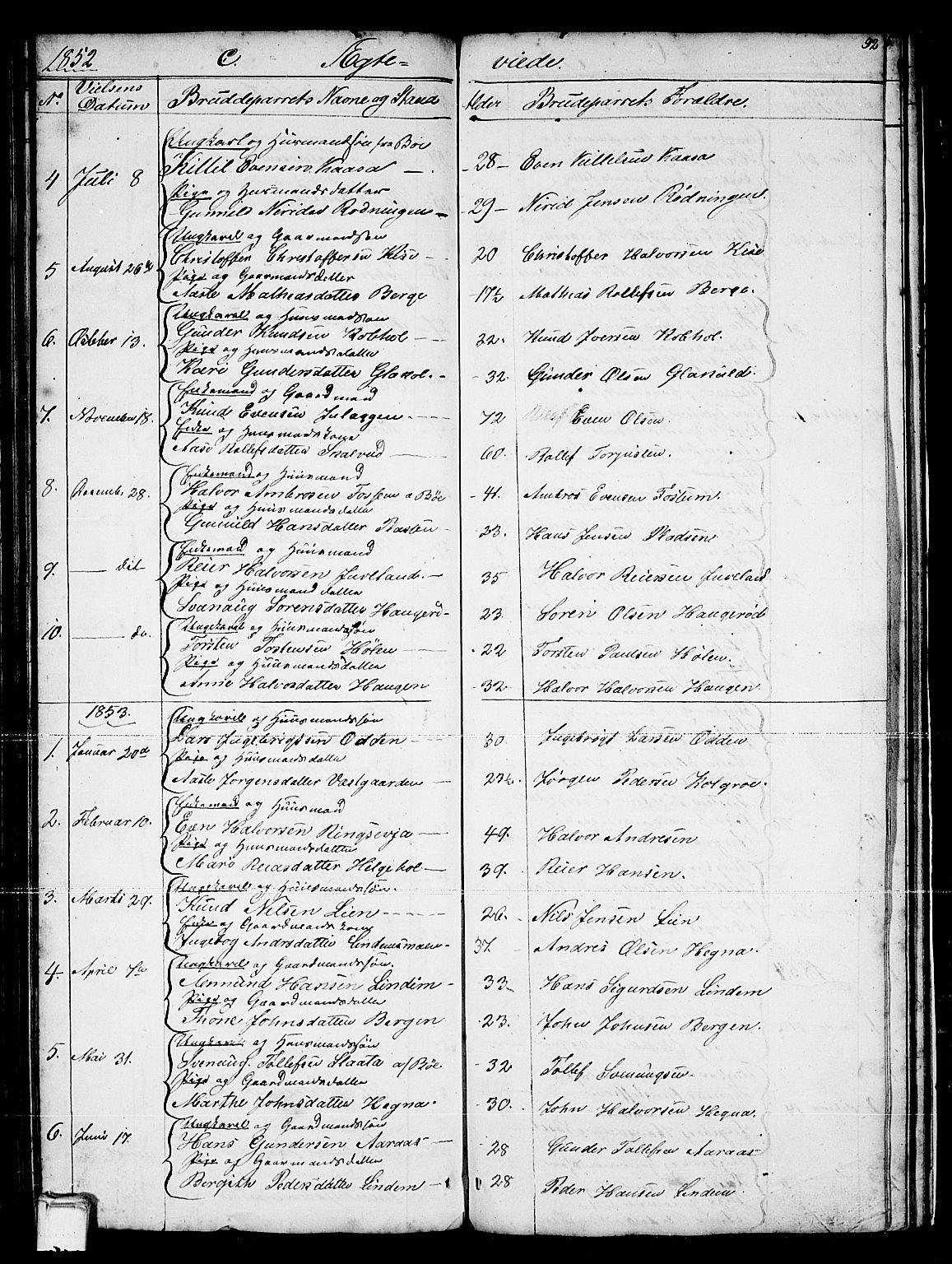 SAKO, Sauherad kirkebøker, G/Gb/L0001: Klokkerbok nr. II 1, 1845-1865, s. 92