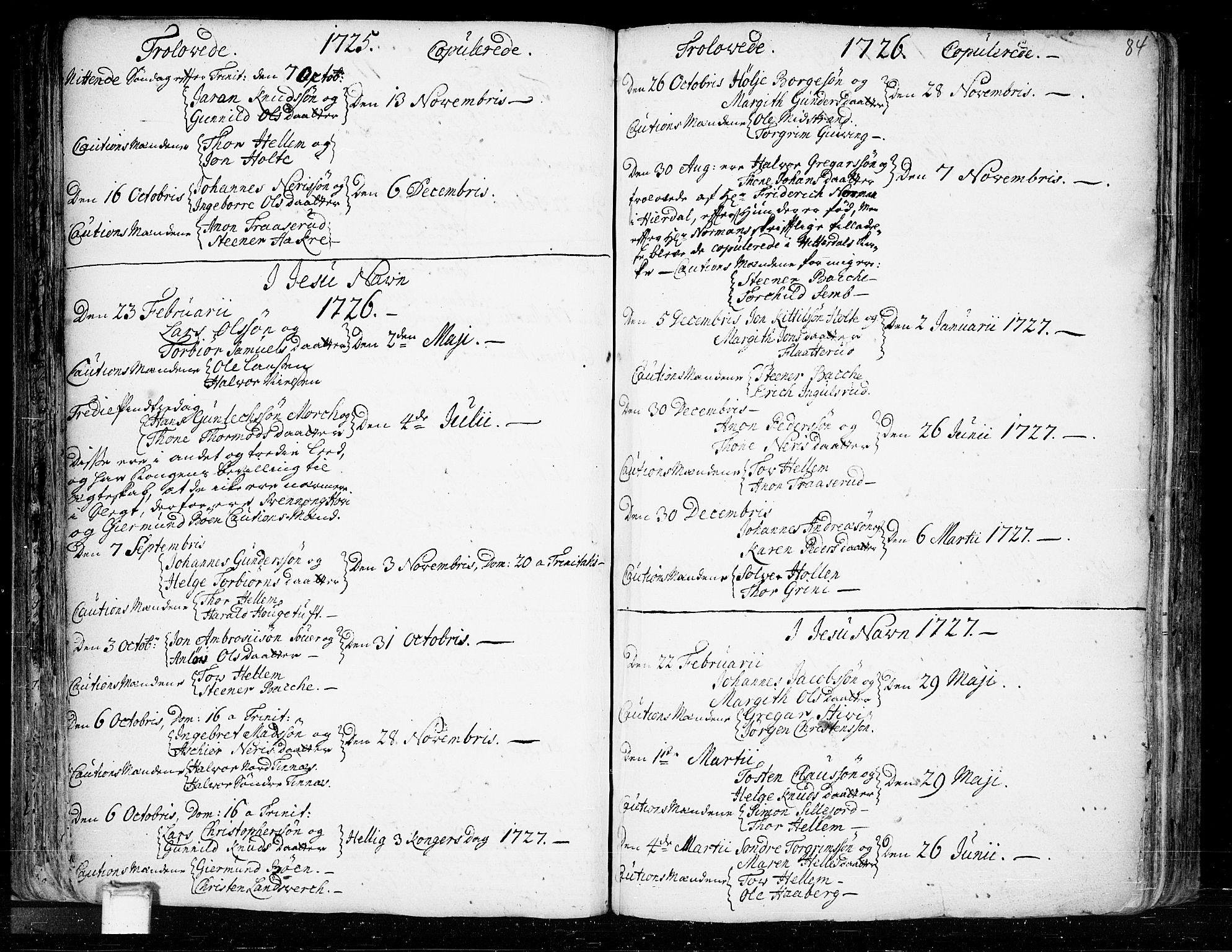SAKO, Heddal kirkebøker, F/Fa/L0003: Ministerialbok nr. I 3, 1723-1783, s. 84