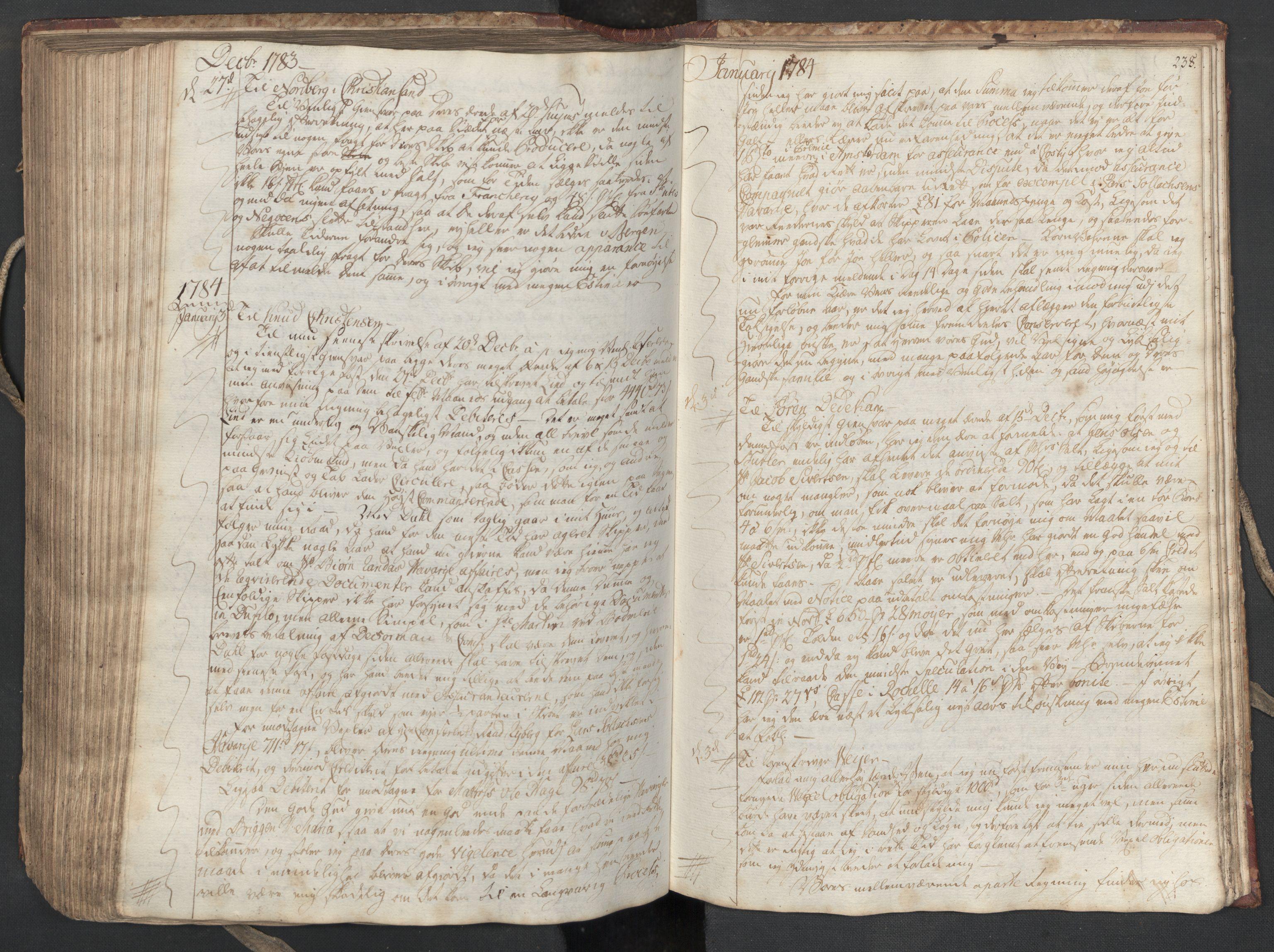 SAST, Pa 0003 - Ploug & Sundt, handelshuset, B/L0004: Kopibok, 1780-1784, s. 237b-238a