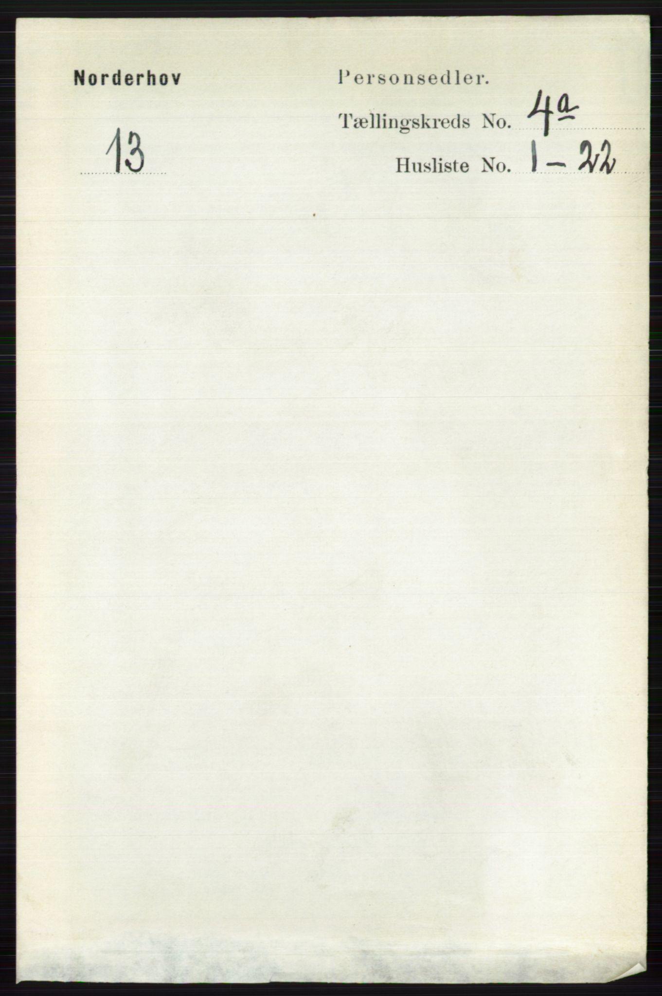 RA, Folketelling 1891 for 0613 Norderhov herred, 1891, s. 1714