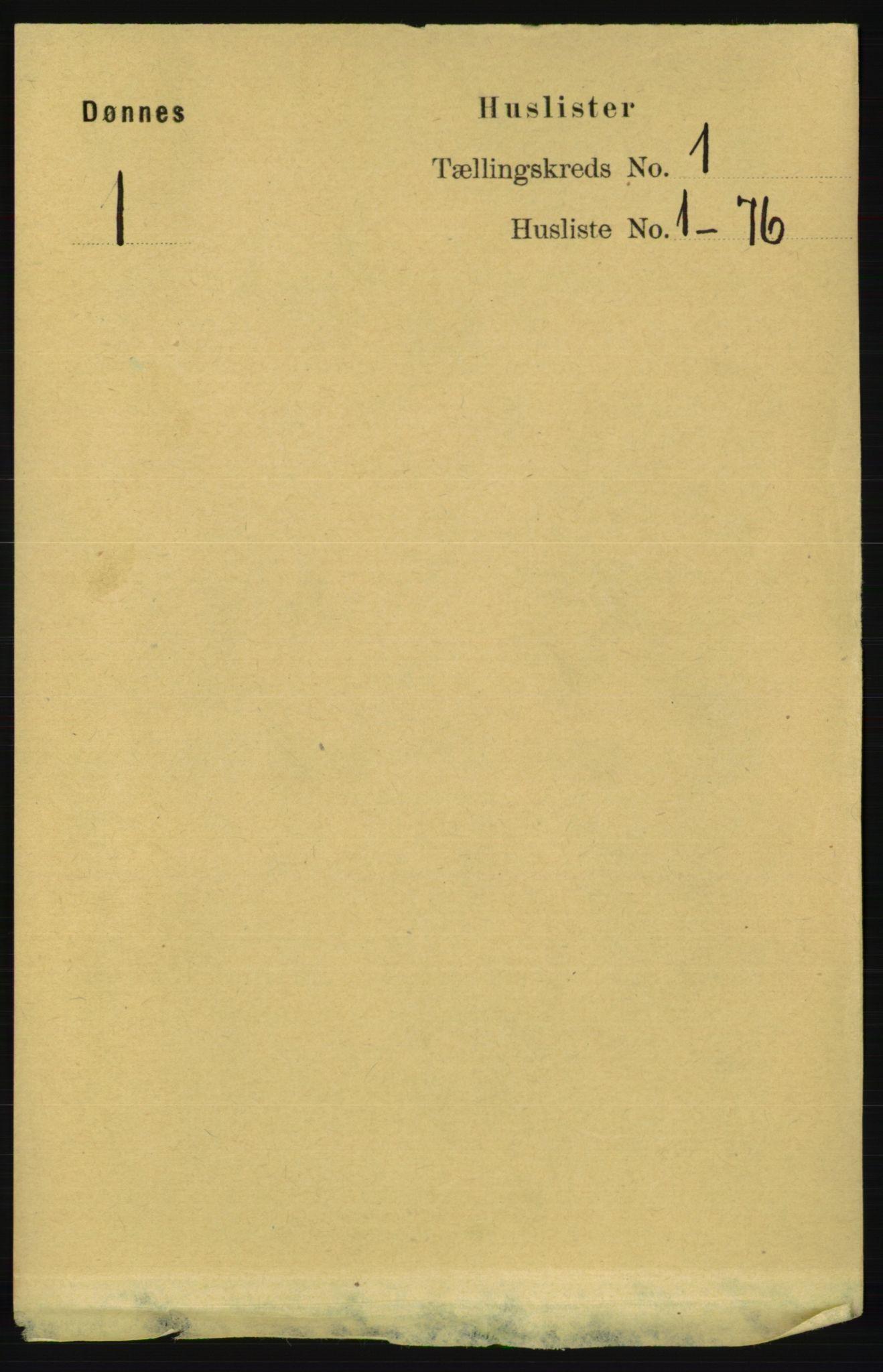 RA, Folketelling 1891 for 1827 Dønnes herred, 1891, s. 13