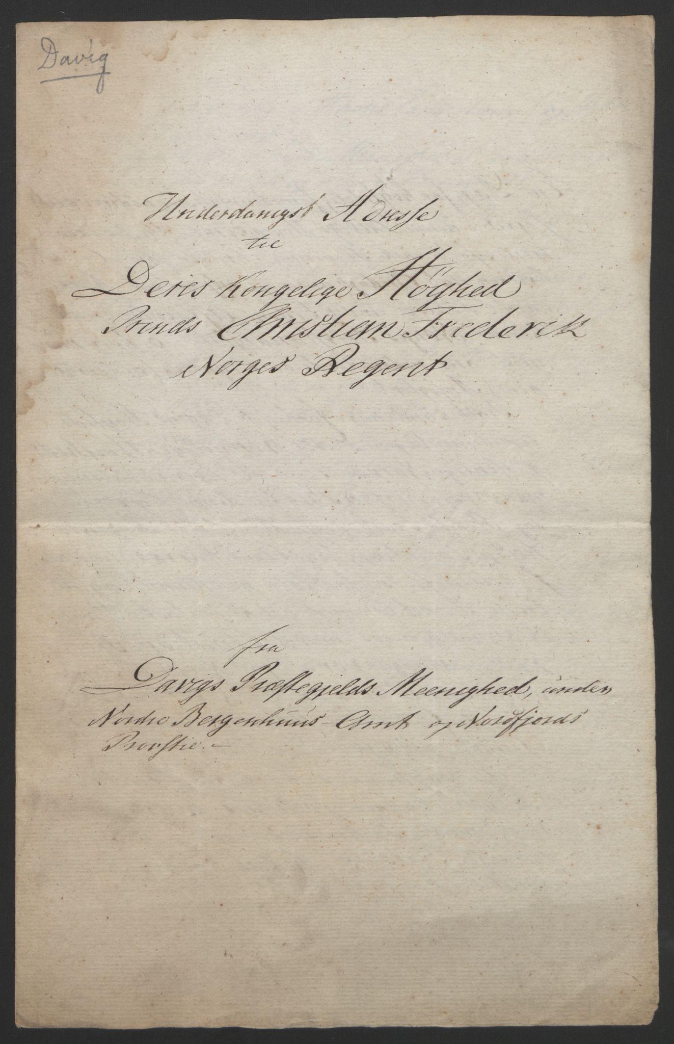 RA, Statsrådssekretariatet, D/Db/L0008: Fullmakter for Eidsvollsrepresentantene i 1814. , 1814, s. 312