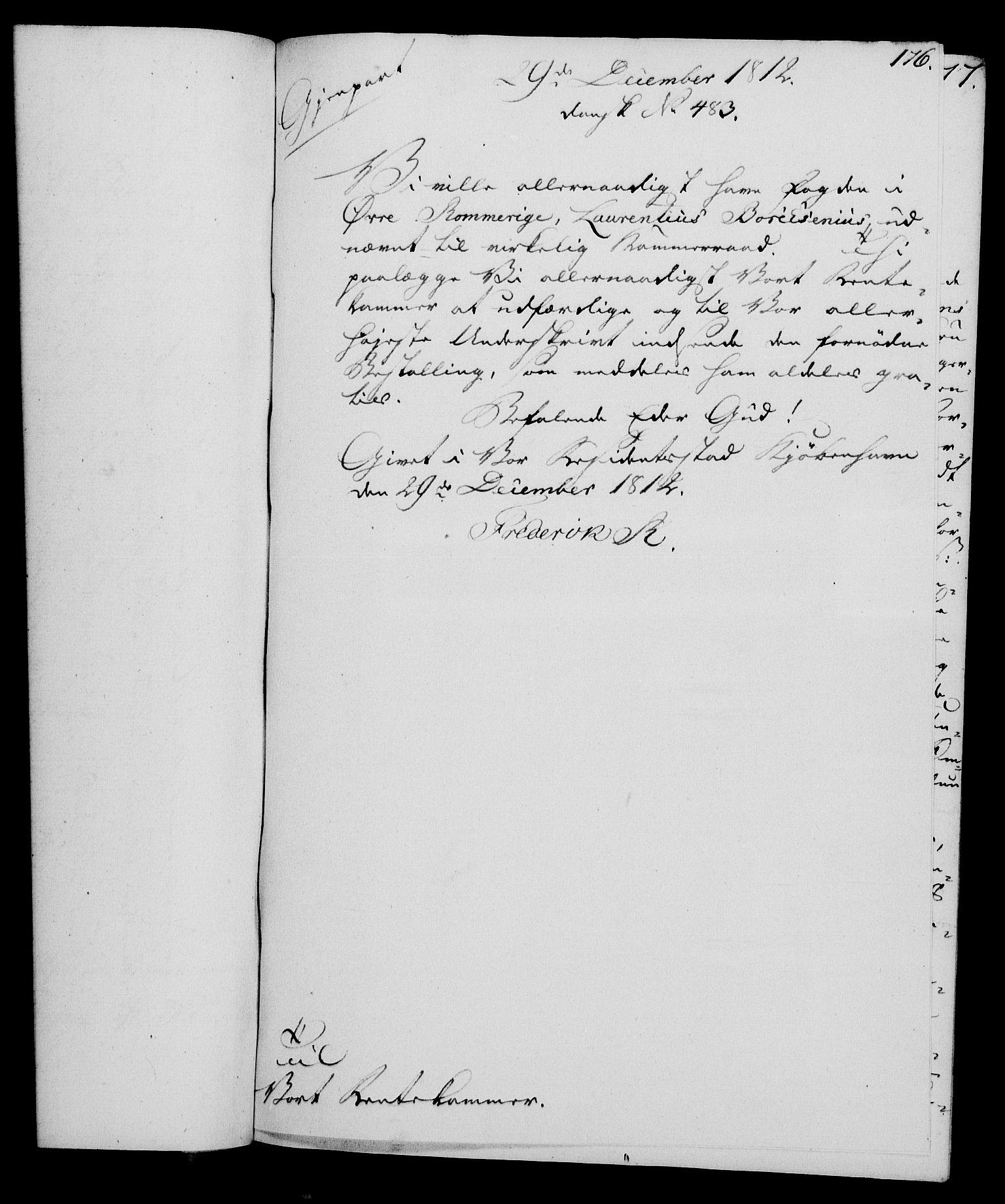 RA, Rentekammeret, Kammerkanselliet, G/Gf/Gfa/L0094: Norsk relasjons- og resolusjonsprotokoll (merket RK 52.94), 1812, s. 660