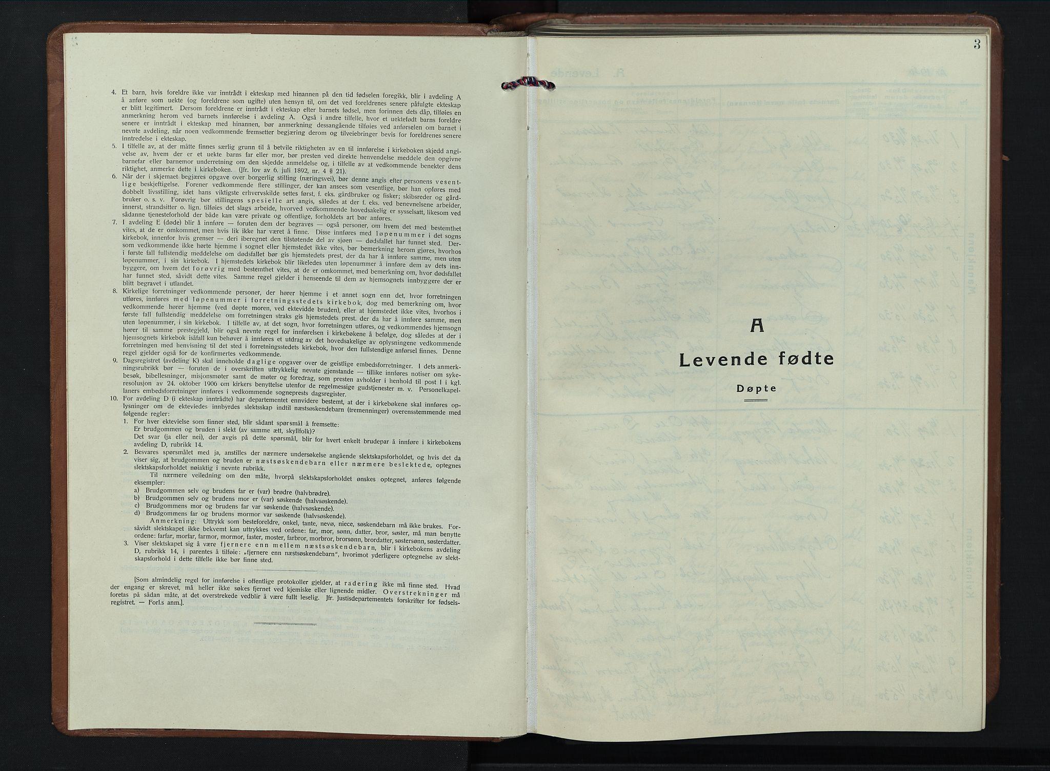 SAH, Dovre prestekontor, Klokkerbok nr. 4, 1926-1949, s. 3