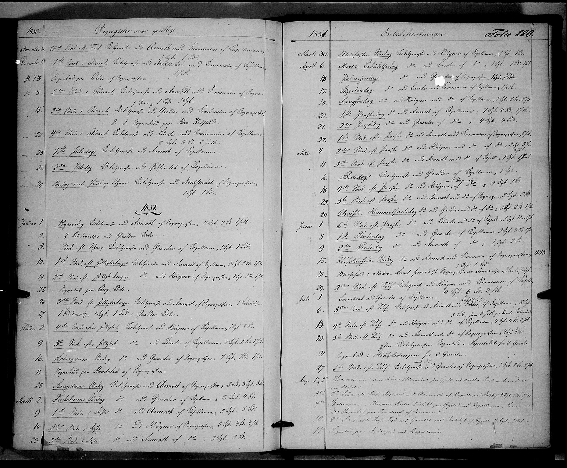 SAH, Land prestekontor, Ministerialbok nr. 10, 1847-1859, s. 220