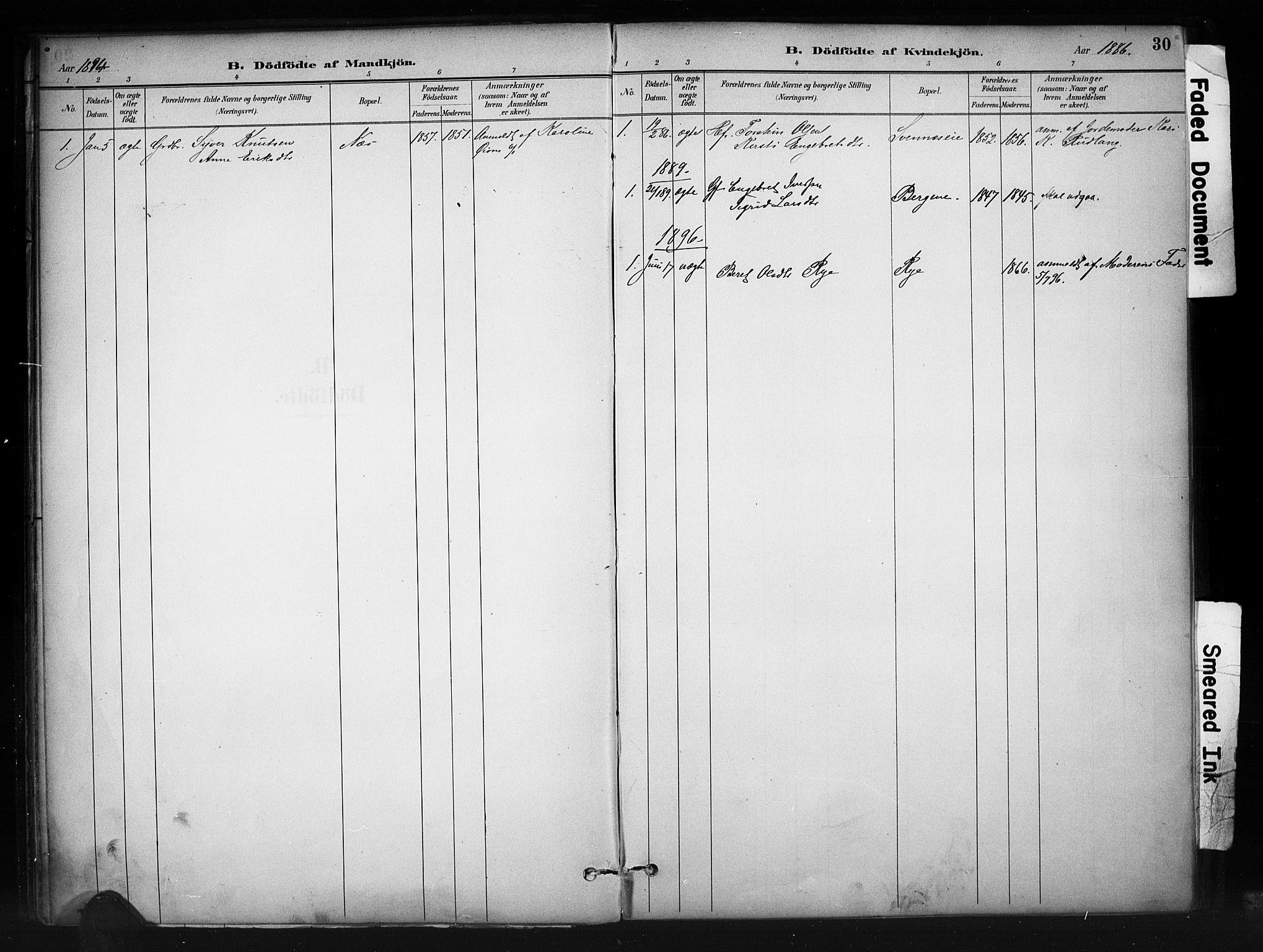 SAH, Nord-Aurdal prestekontor, Ministerialbok nr. 10, 1883-1896, s. 30