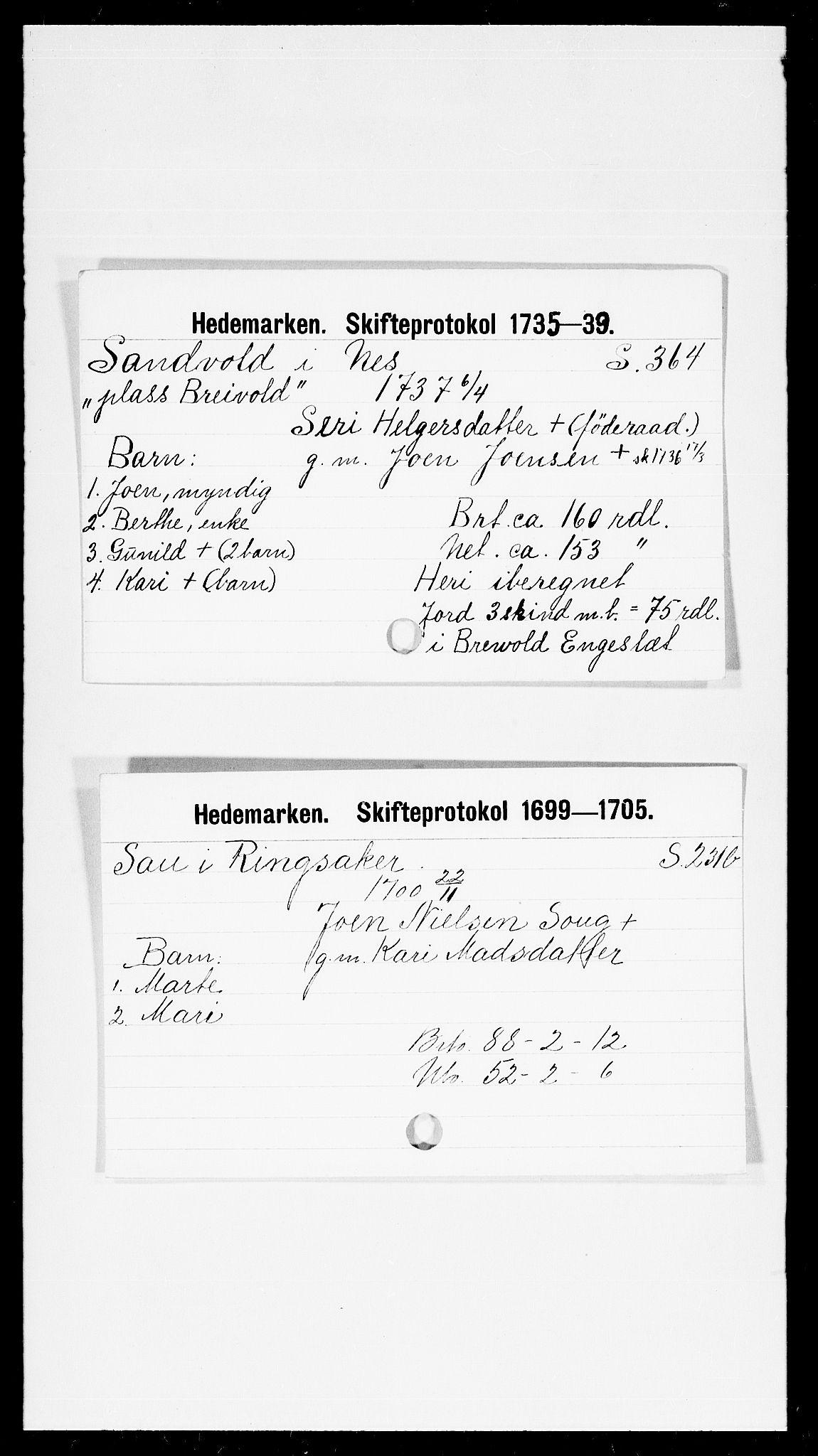SAH, Hedemarken sorenskriveri, J, 1663-1743, s. 5387