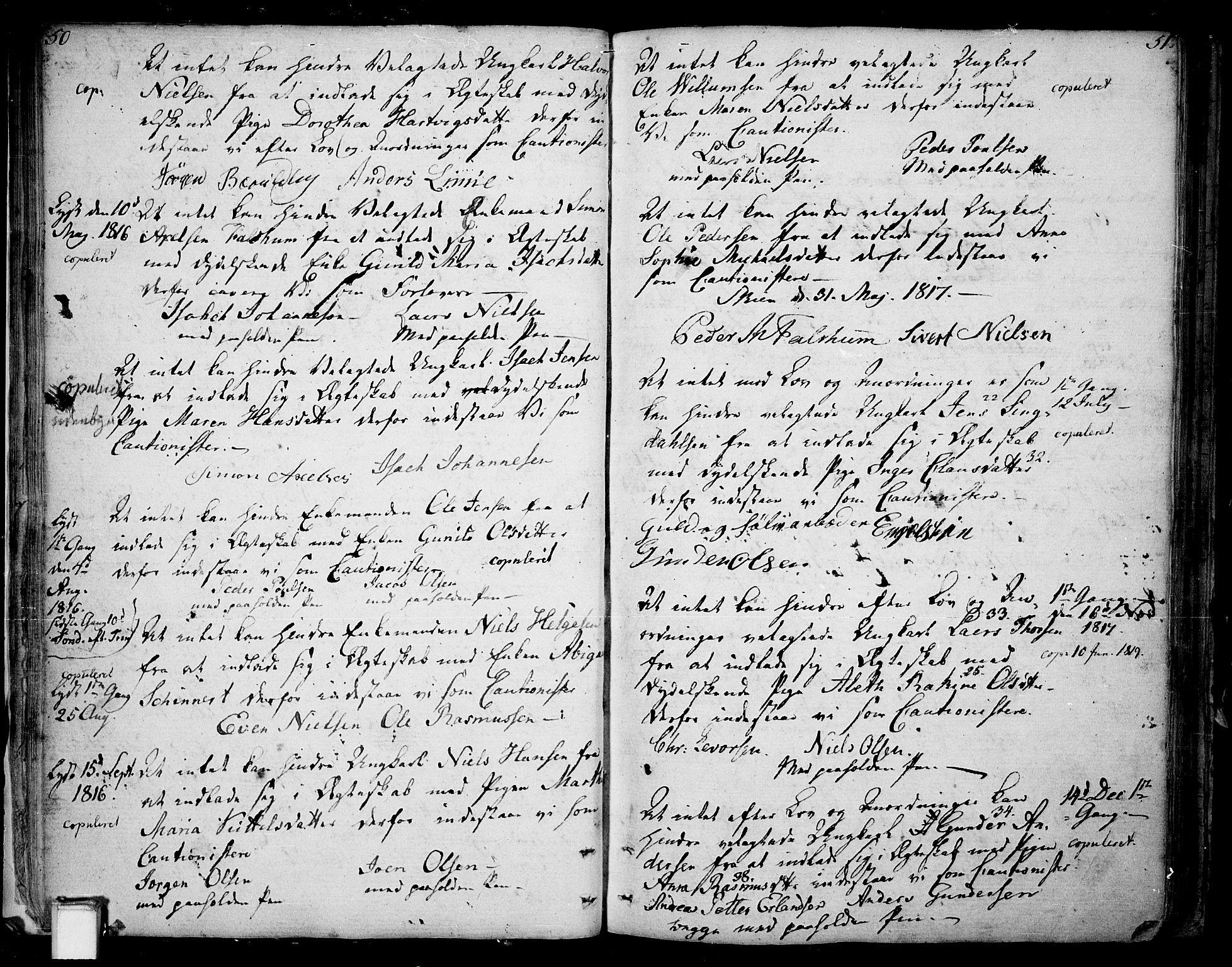 SAKO, Skien kirkebøker, F/Fa/L0004: Ministerialbok nr. 4, 1792-1814, s. 50-51
