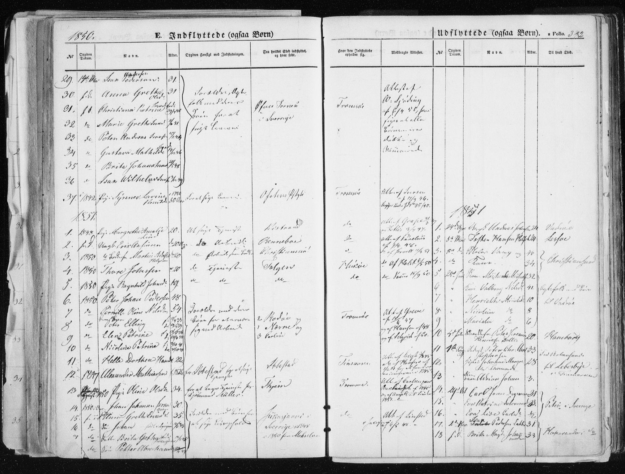 SATØ, Tromsø sokneprestkontor/stiftsprosti/domprosti, G/Ga/L0010kirke: Ministerialbok nr. 10, 1848-1855, s. 392