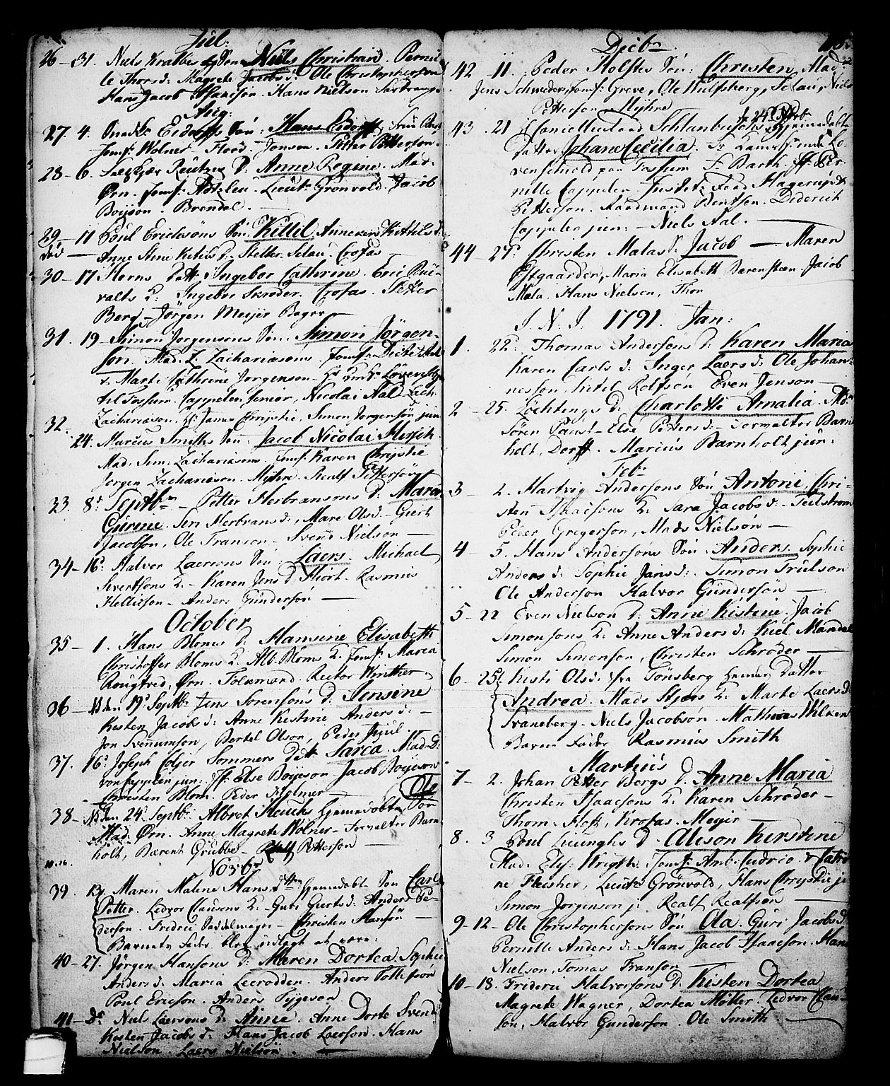 SAKO, Skien kirkebøker, G/Ga/L0001: Klokkerbok nr. 1, 1756-1791, s. 118